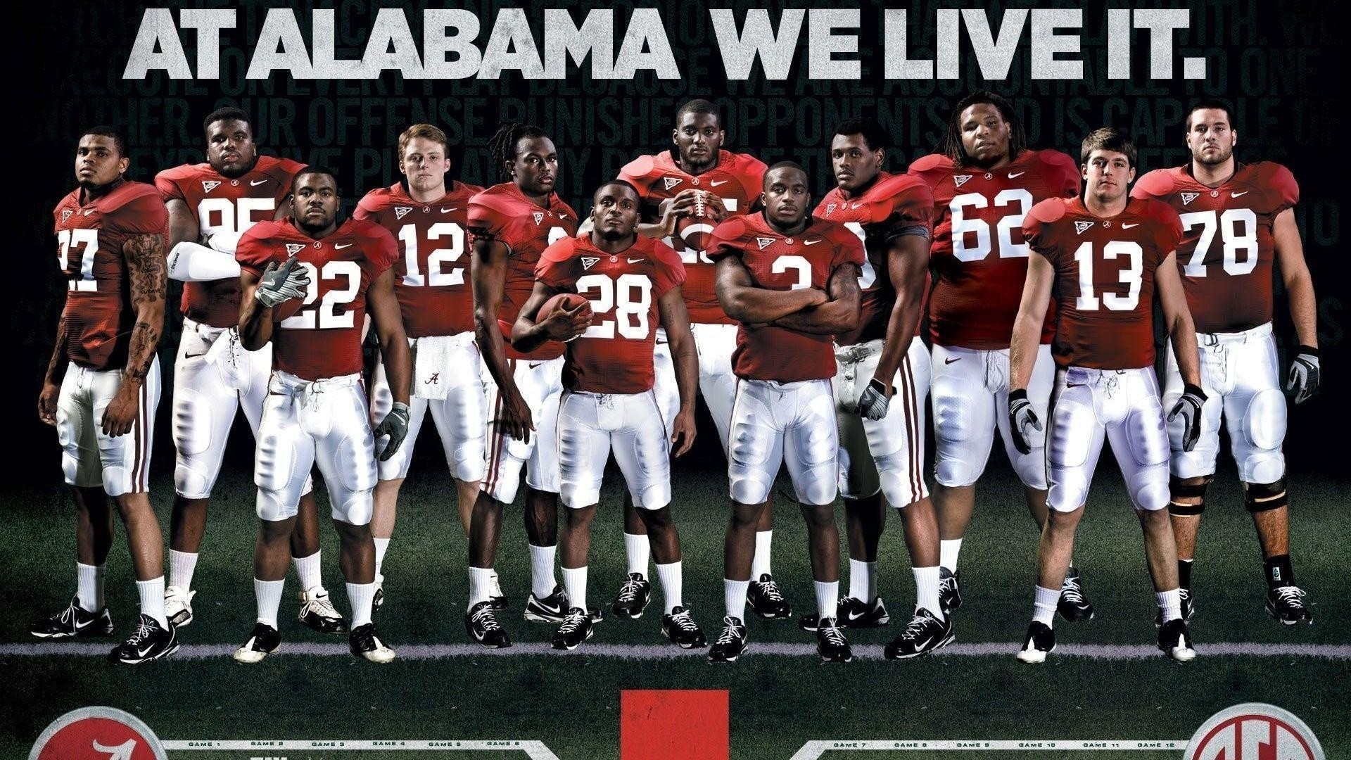 1920x1080 1920x1080 Football, College, Crimson Tide, Alabama Football Team .