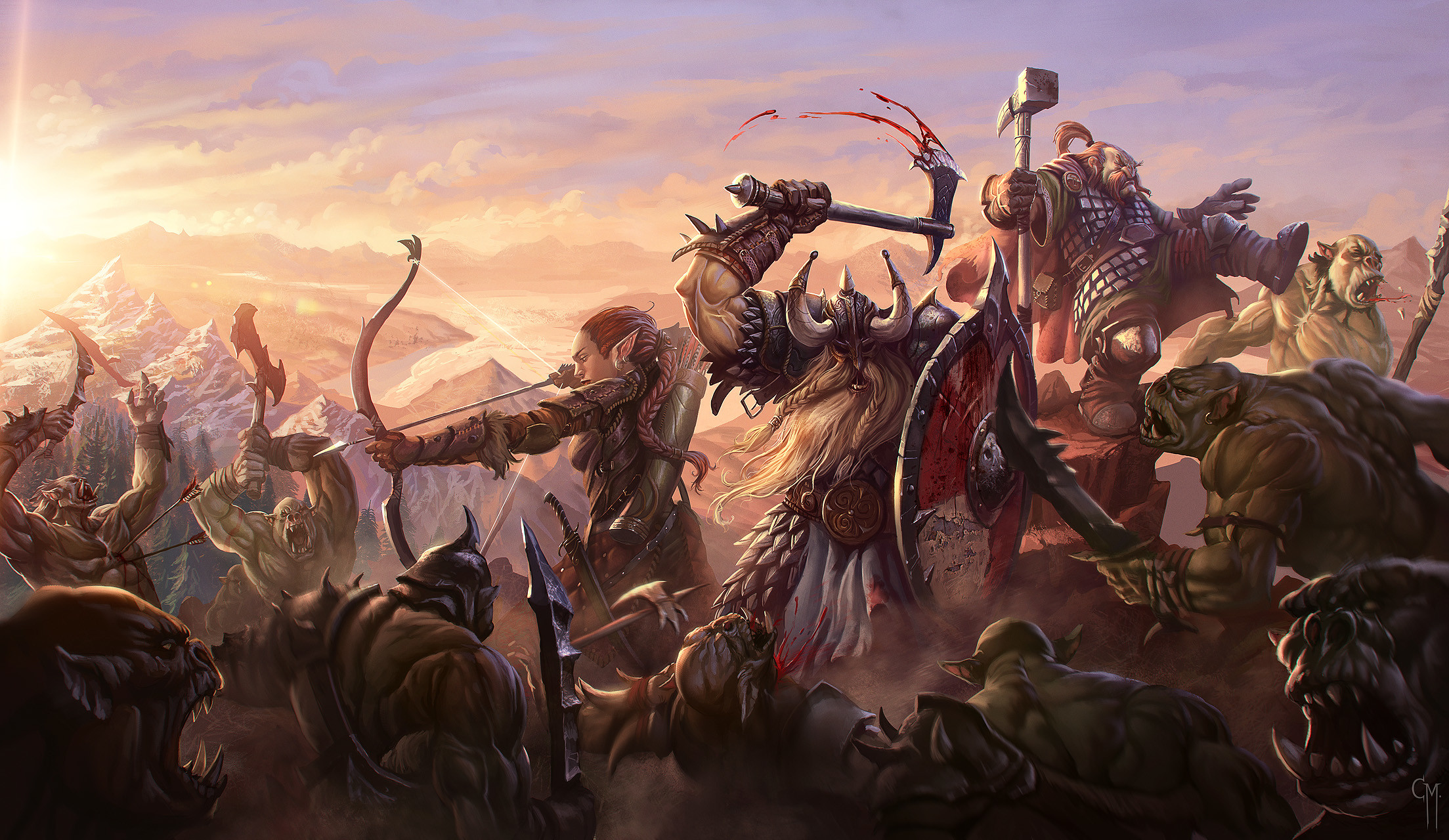 2207x1280 Final Battle by Hamsterfly | Inspiration | Pinterest | Art reference and  Artwork