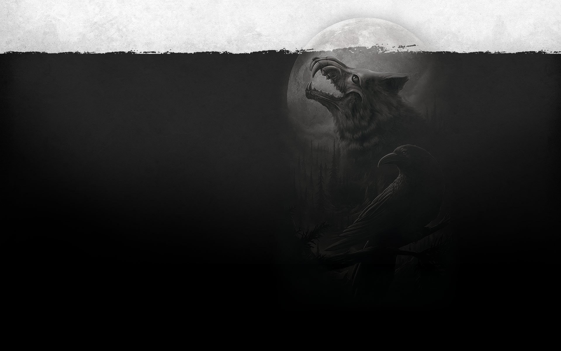 1920x1200 Dark - Werewolf Wallpaper