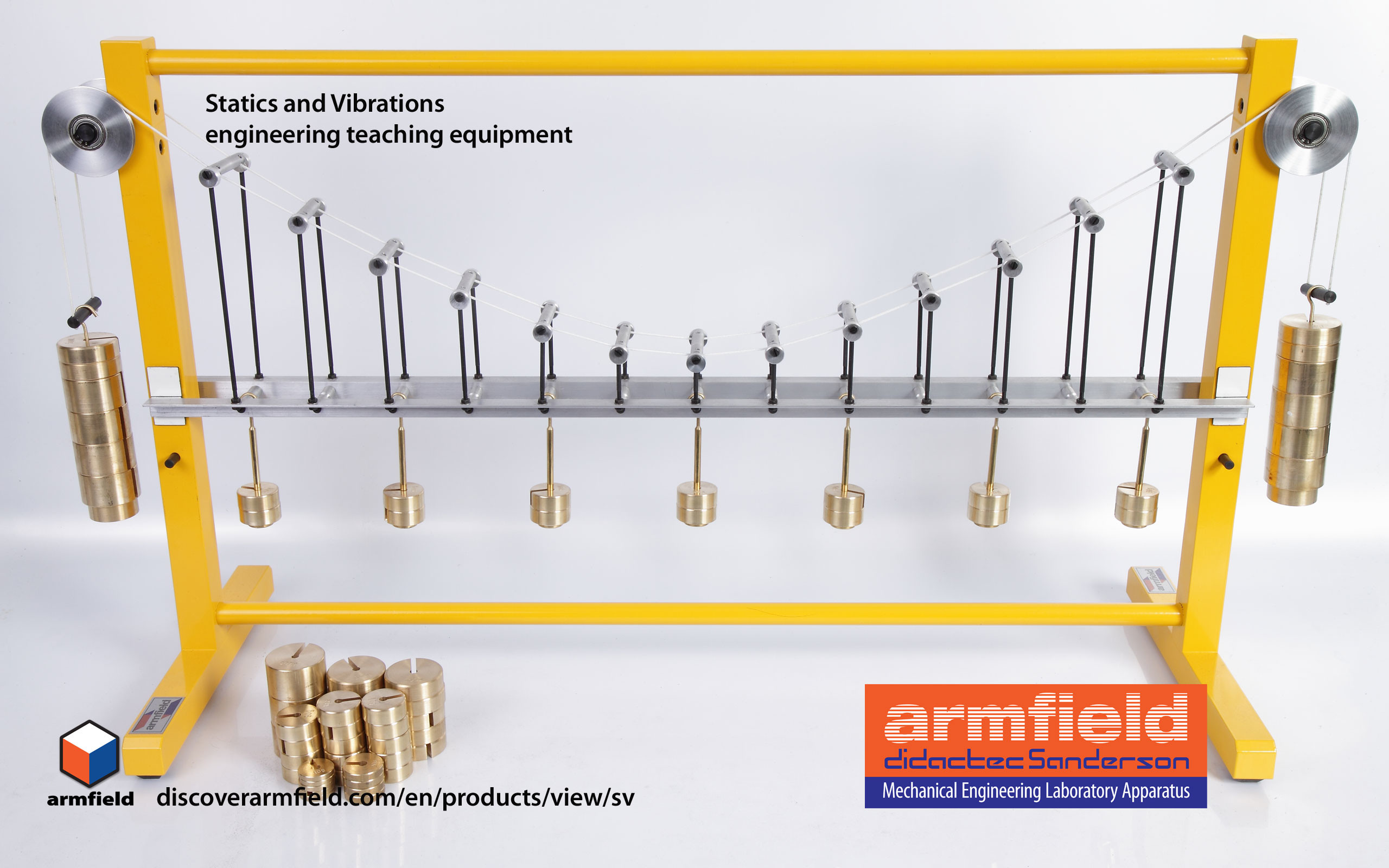 2560x1600 Armfield - Mechanical engineering equipment (statics and vibrations - SV)