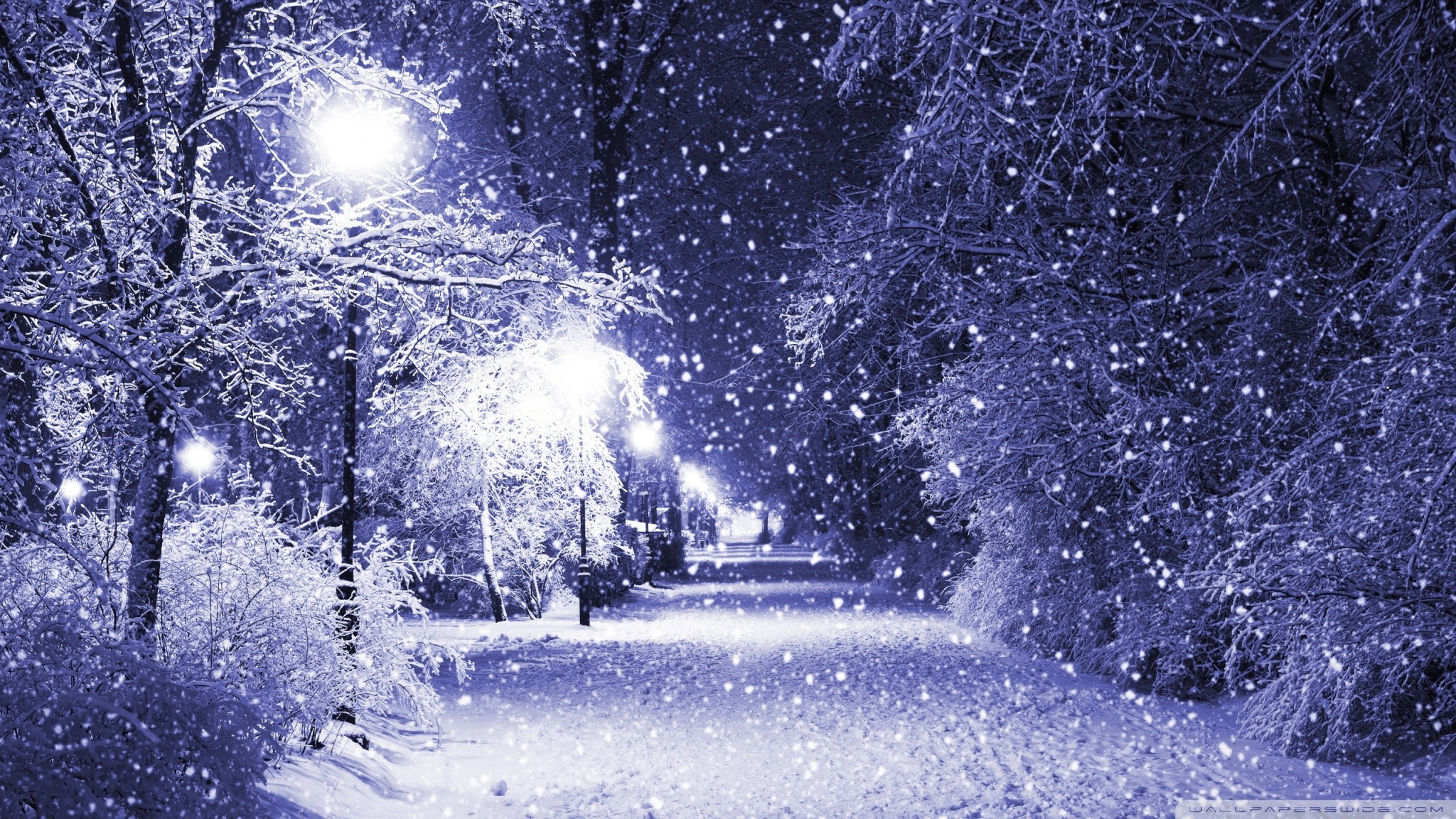 2048x1152 Winter Night HD desktop wallpaper Mobile Dual Monitor