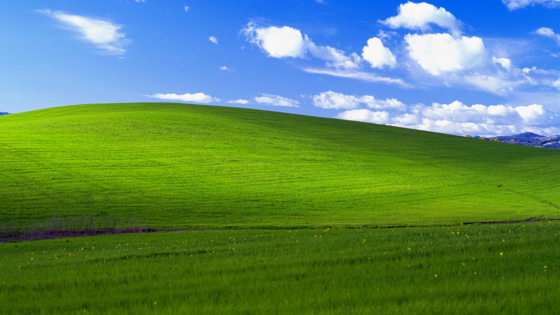 1920x1080 ... Windows XP's signature wallpaper. JB. Image: Microsoft