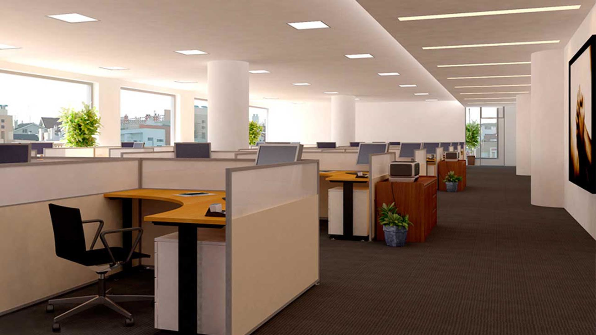 office background room interior