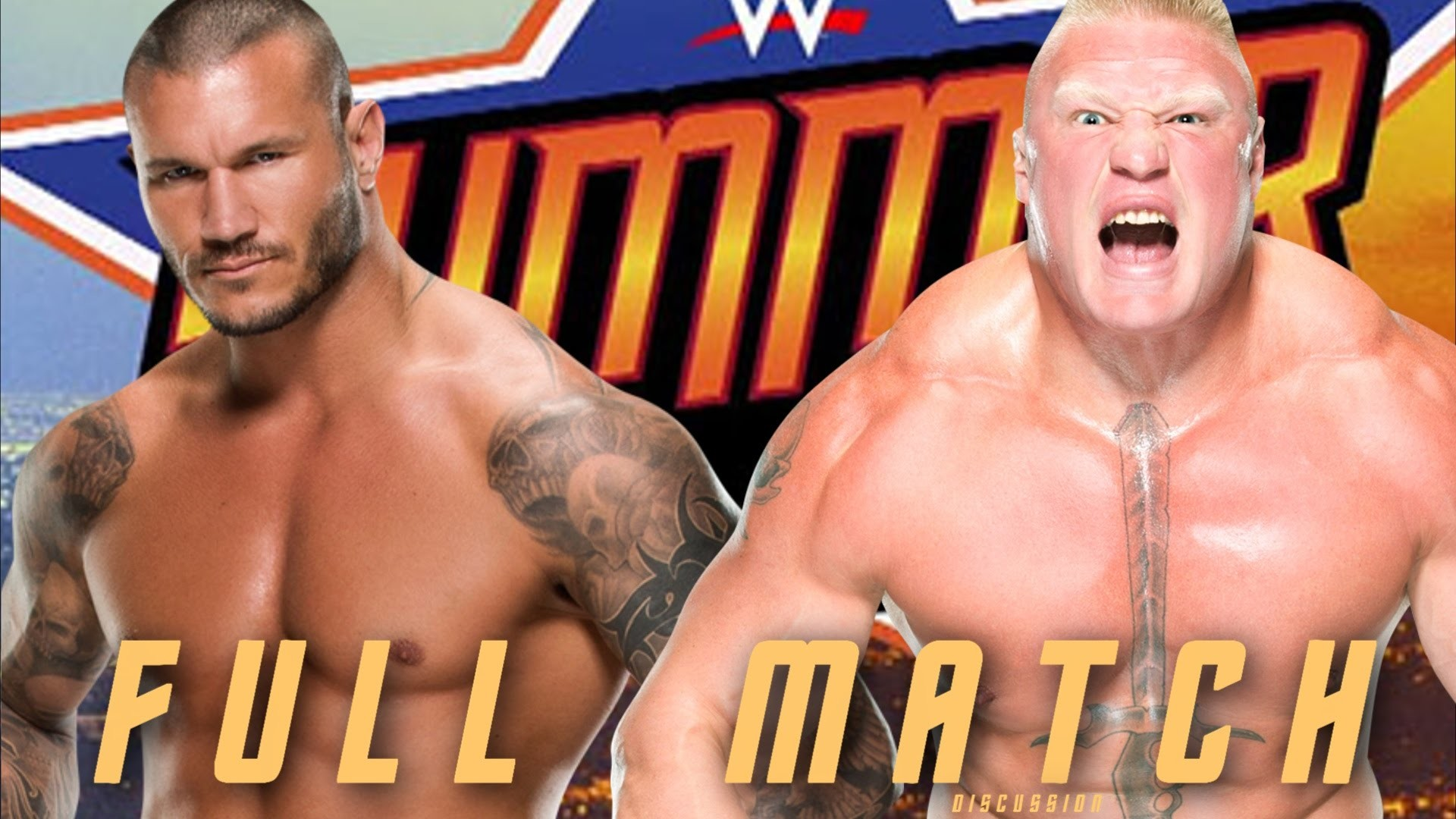 1920x1080 WWE Summerslam 2016: Brock Lesnar vs. Randy Orton Full Match Highlights