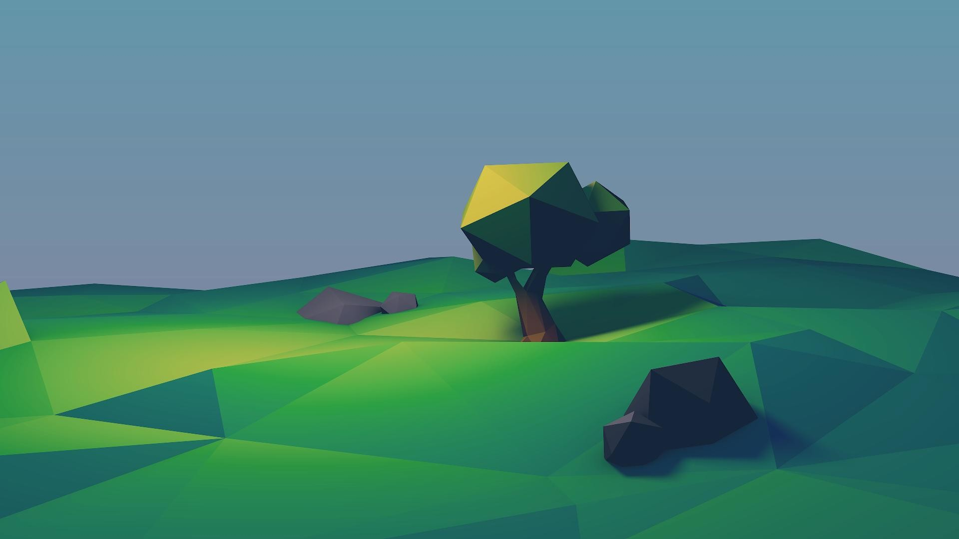 1920x1080 wallpaper.wiki-Awesome-2D-Lowpoly-Picture-by-imrooniel-