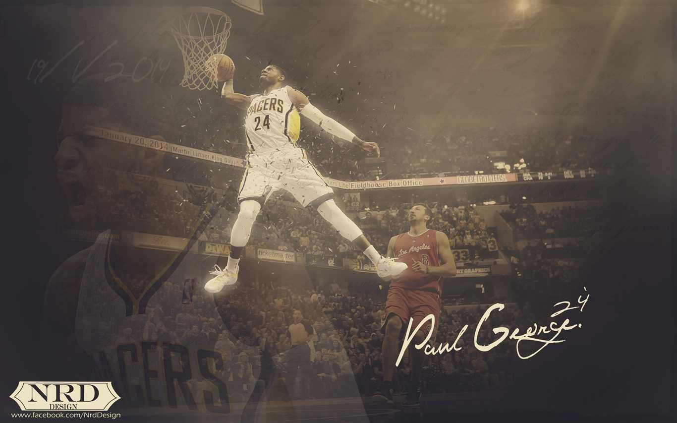 2560x1600 1920x1200 Paul George Indiana Pacers Dunk Wallpaper