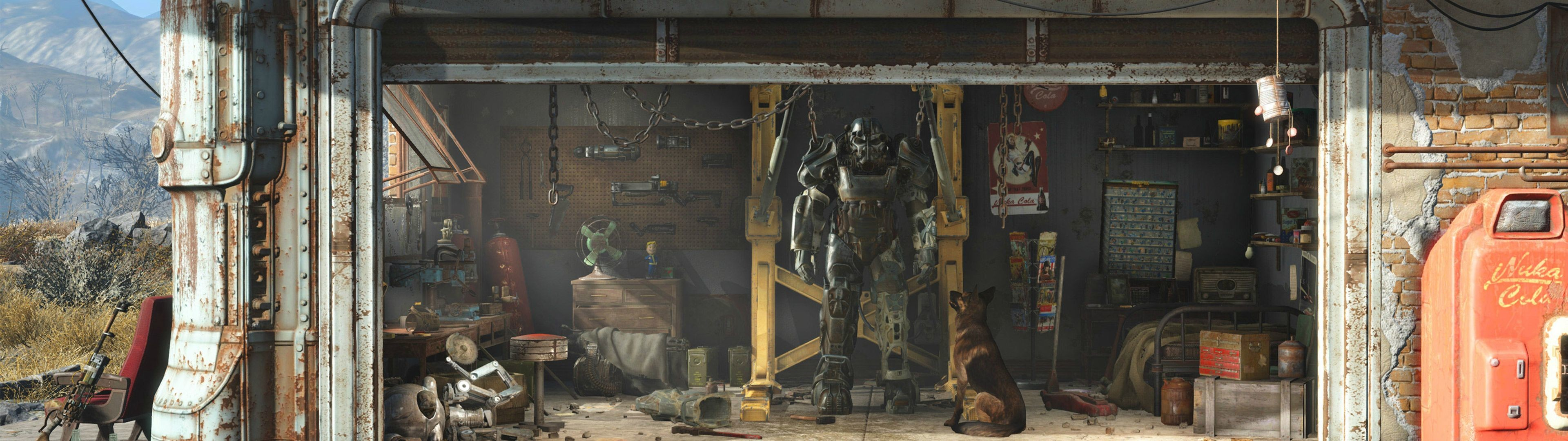 Fallout 4 dual screen wallpaper 56 images for Fallout 4 mural