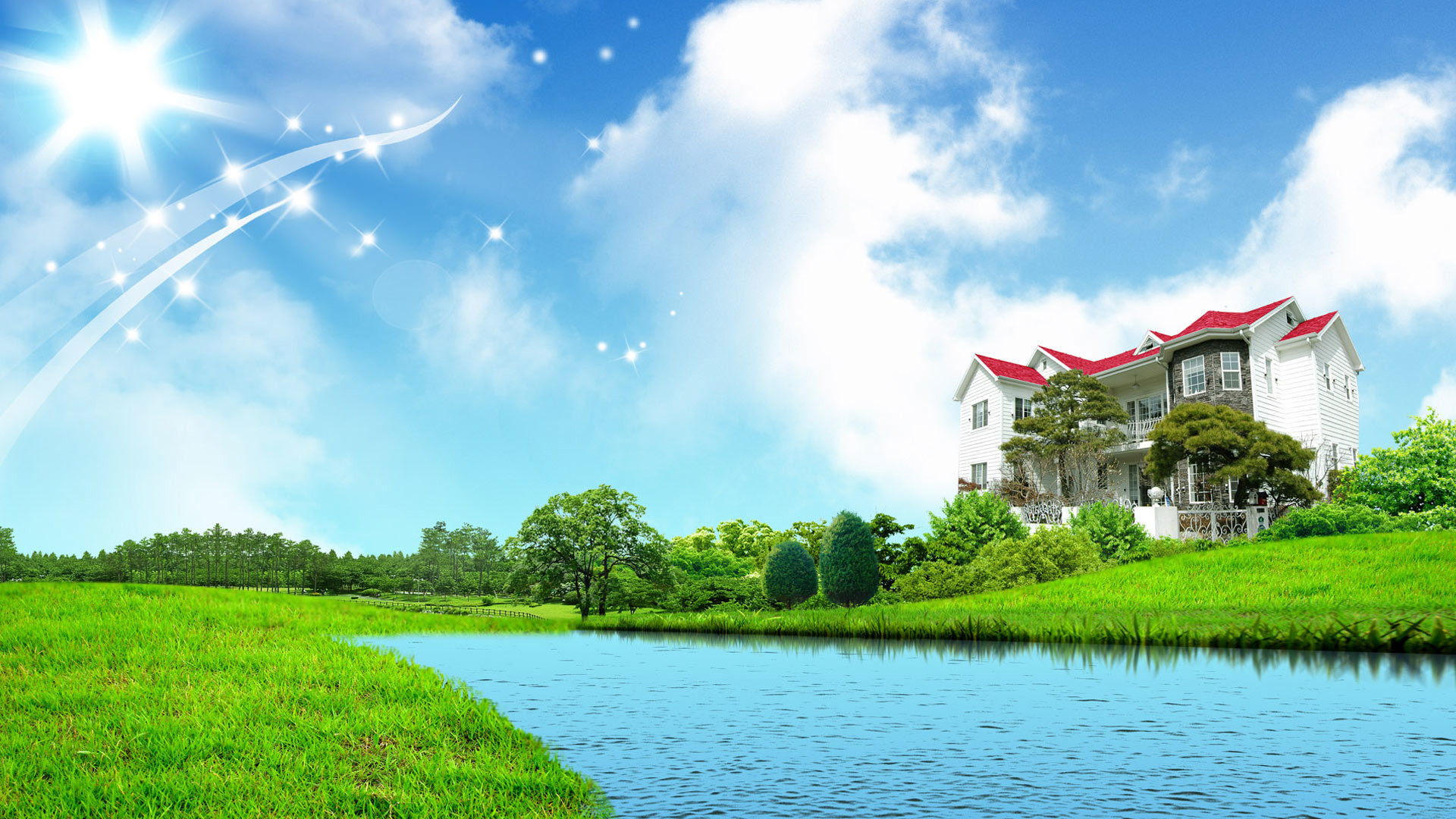 1920x1080 wallpaper.wiki-Sweet-home-fantasy-green-nature-wallpapers-