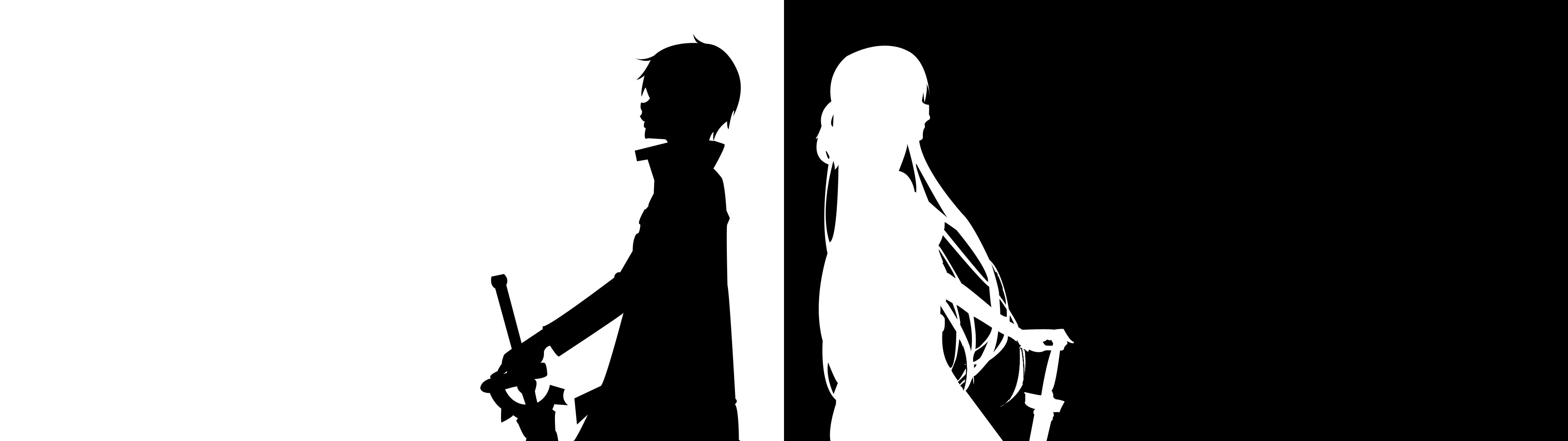 3840x1080 Minimal Sword Art Online [Dual-Screen] [] ...