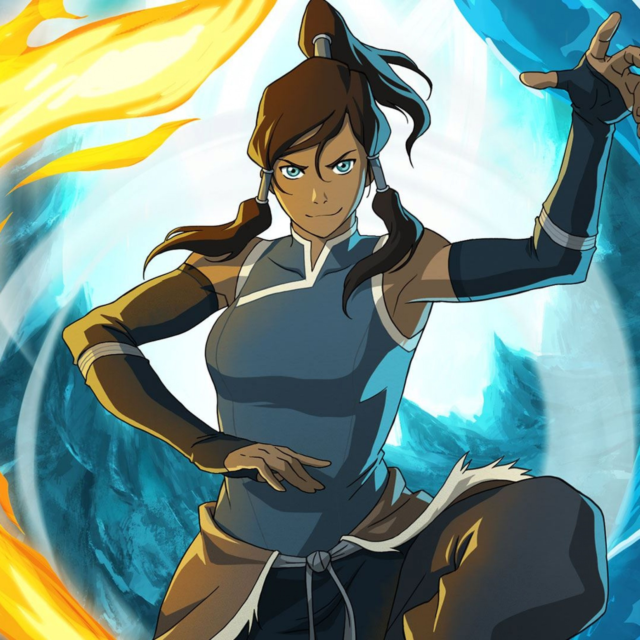 2048x2048 Preview wallpaper the legend of korra, avatar legend of the corre, girl,  magician