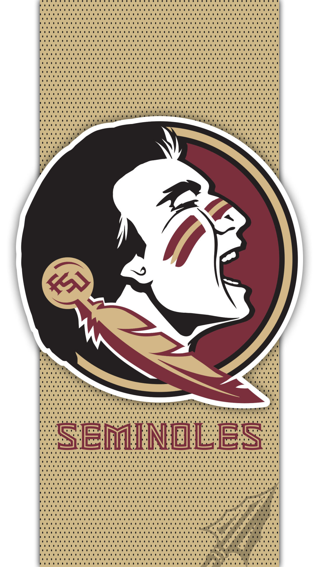 1080x1920 Florida State Seminoles A cell phone wallpaper based on the logo for the Florida  State Seminoles