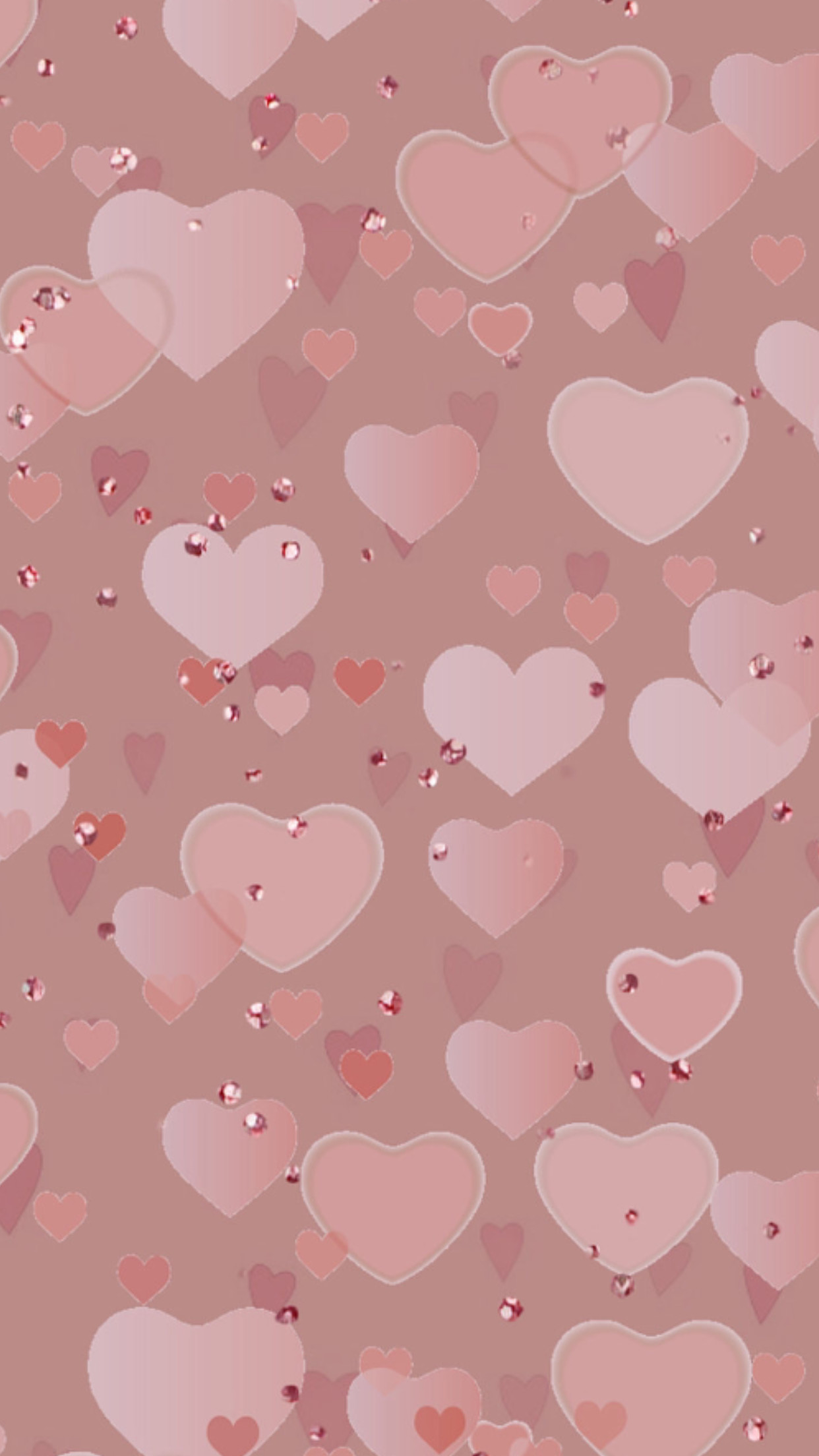 1242x2208 Pink heart wallpaper #GlitterFondos