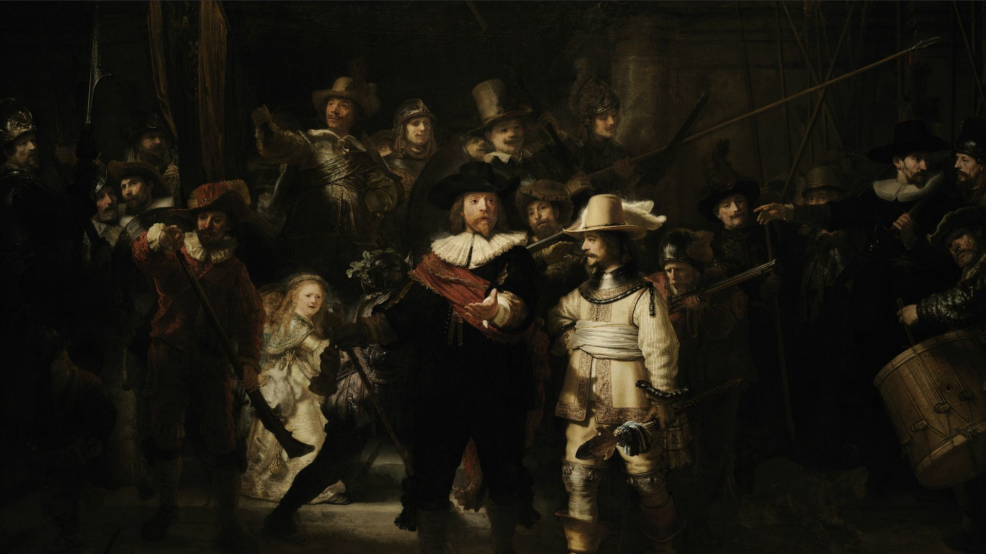 1920x1080 Artistic - Rembrandt's Night Watch Wallpaper