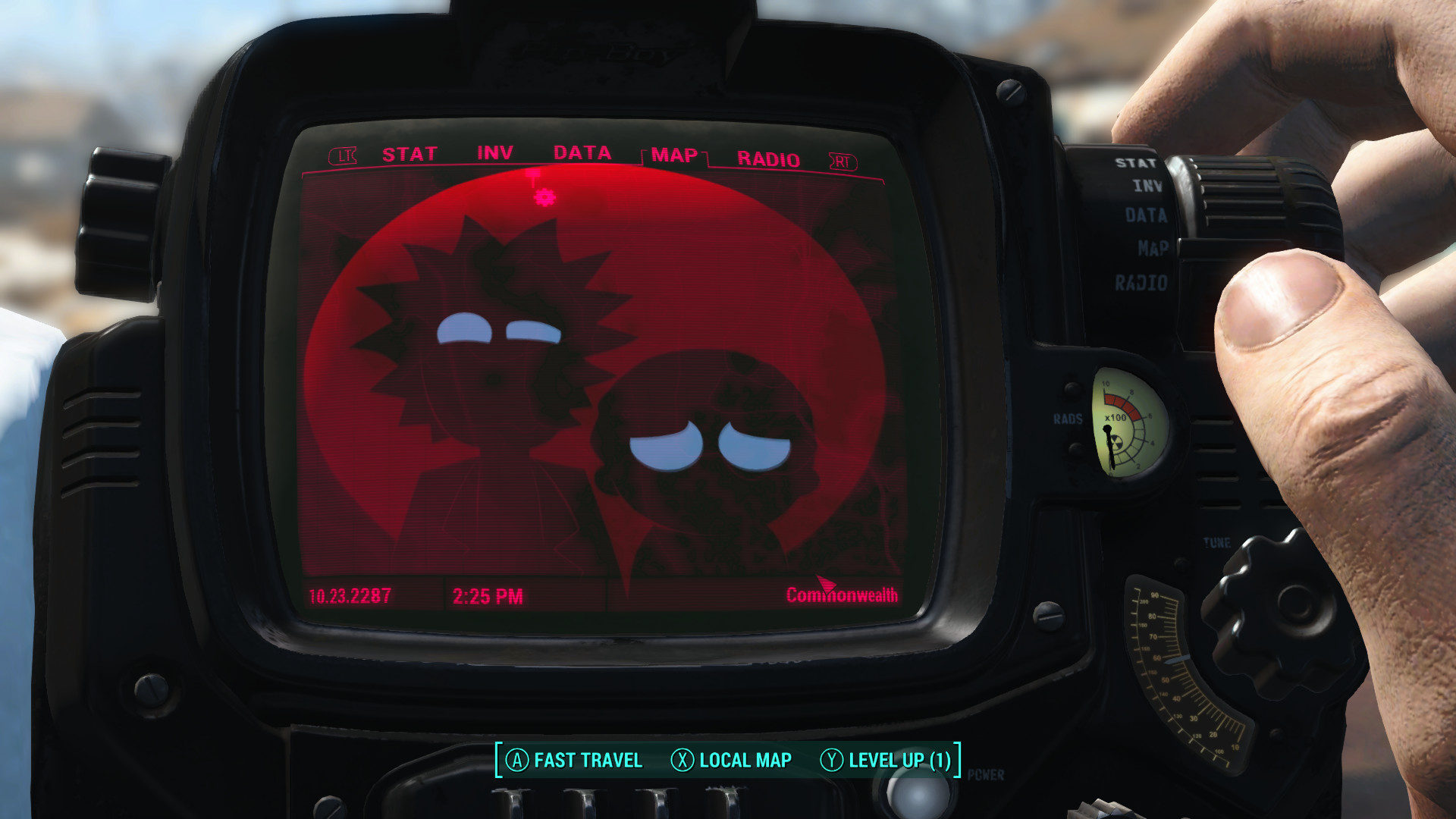 1920x1080 Another Rick and Morty Pip-Boy Background
