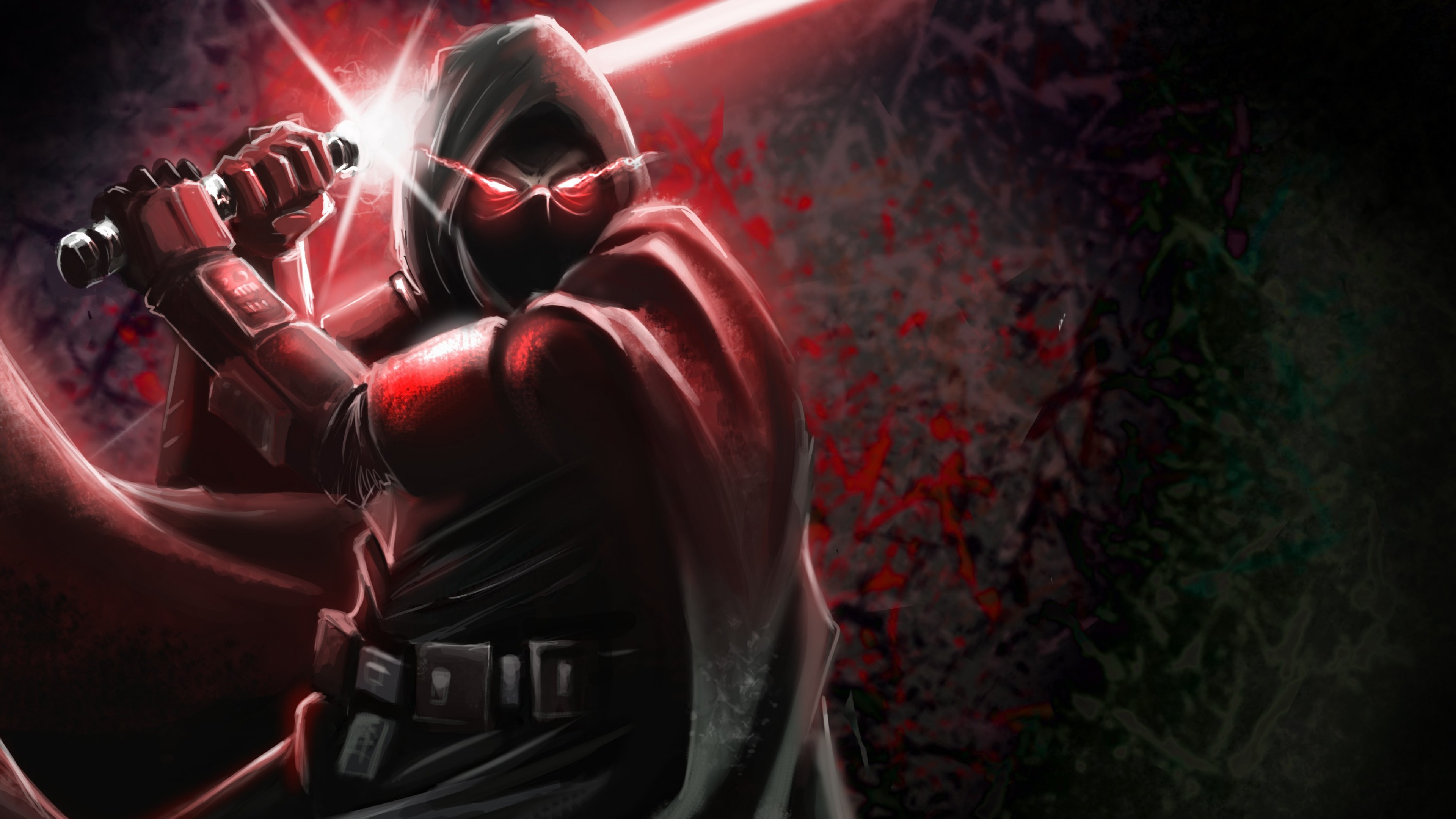 3840x2160  Wallpaper sith, star wars, art, dark side