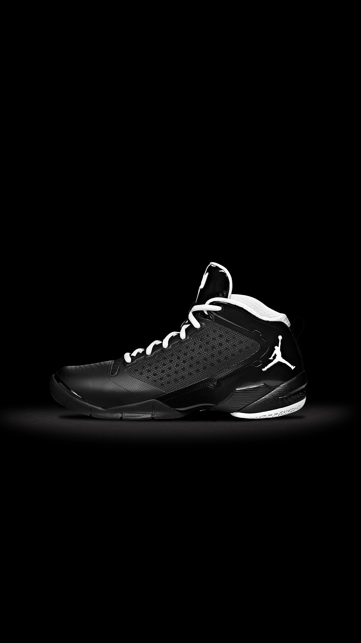 1242x2208 Jordan Fly Wade 2 Black Android Wallpaper ...