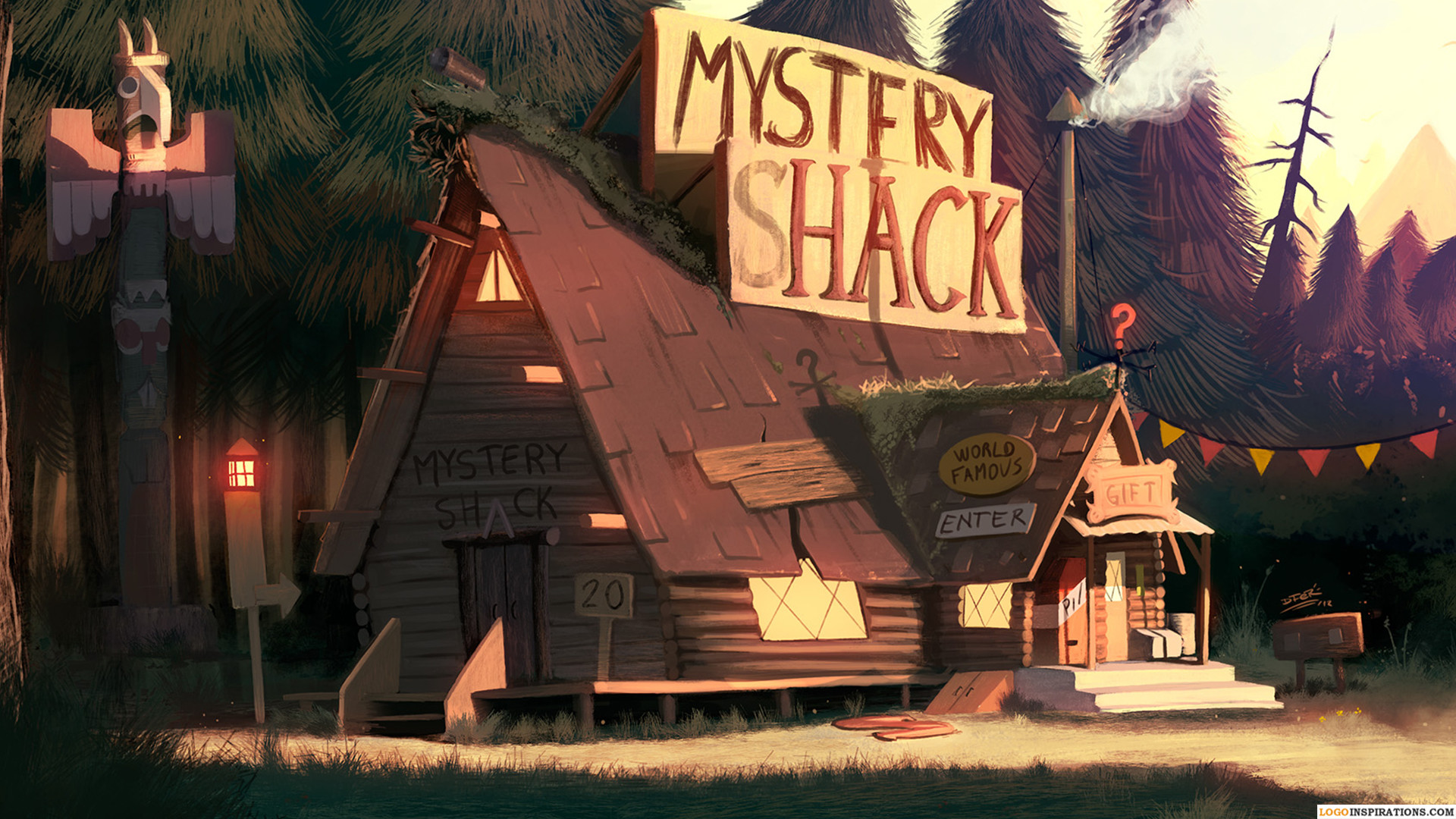1920x1080 Beautiful HD Gravity Falls Wallpaper