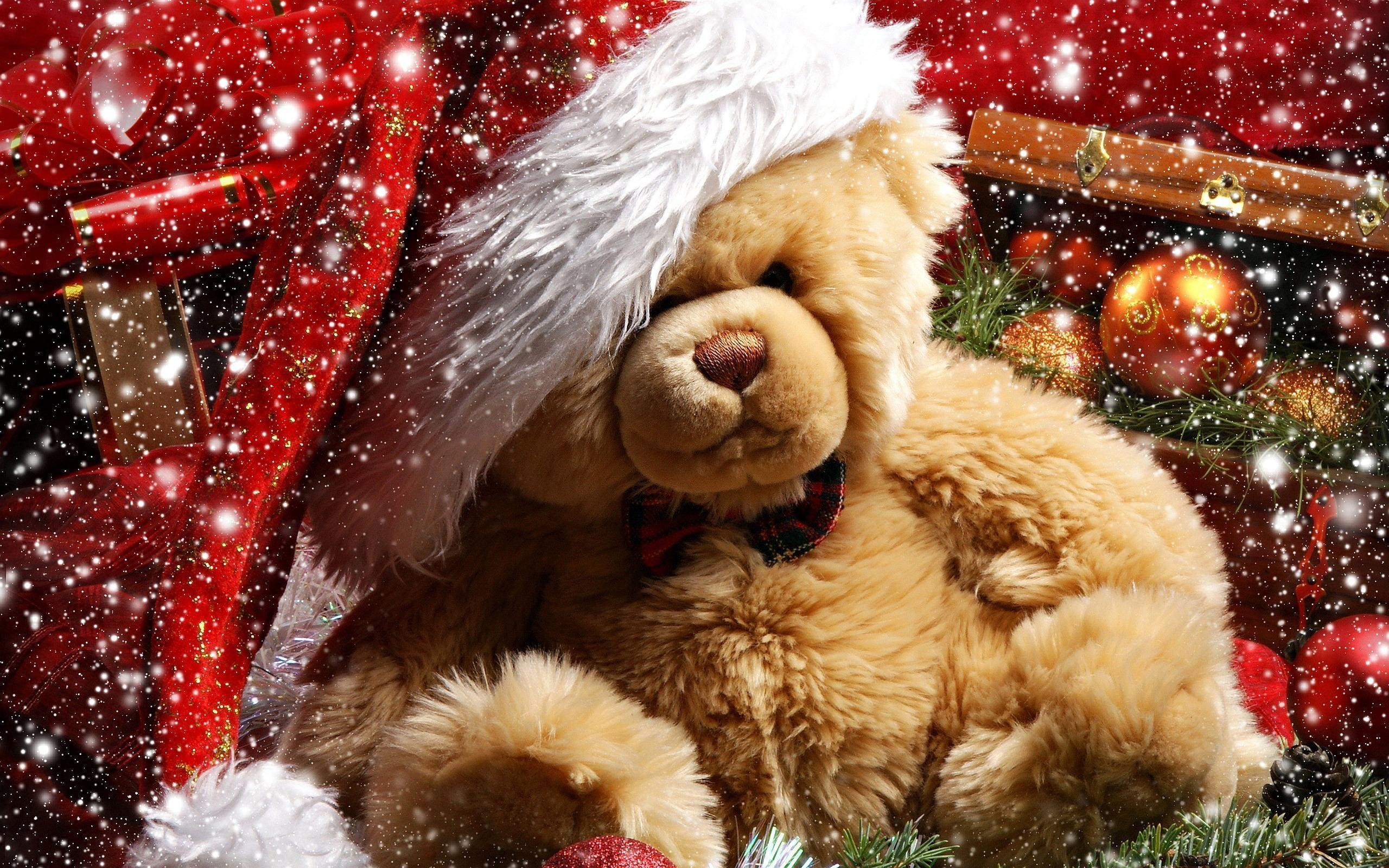2560x1600 XMas Wallpapers Backgrounds - Download free XMas Xmas teddy bear