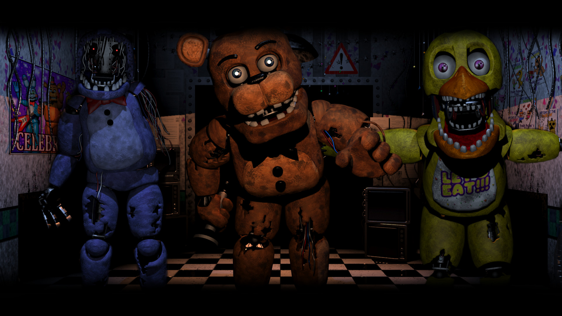 1920x1080 ... Old Gang ( Five Nights At Freddy's 2 Wallpaper) by BloodyHorrible