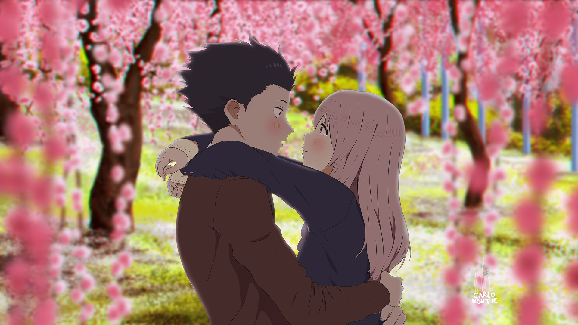 1920x1080 A Silent Voice || Fanart :iconsteamytomato: SteamyTomato 281 13 Feelings by  hector026