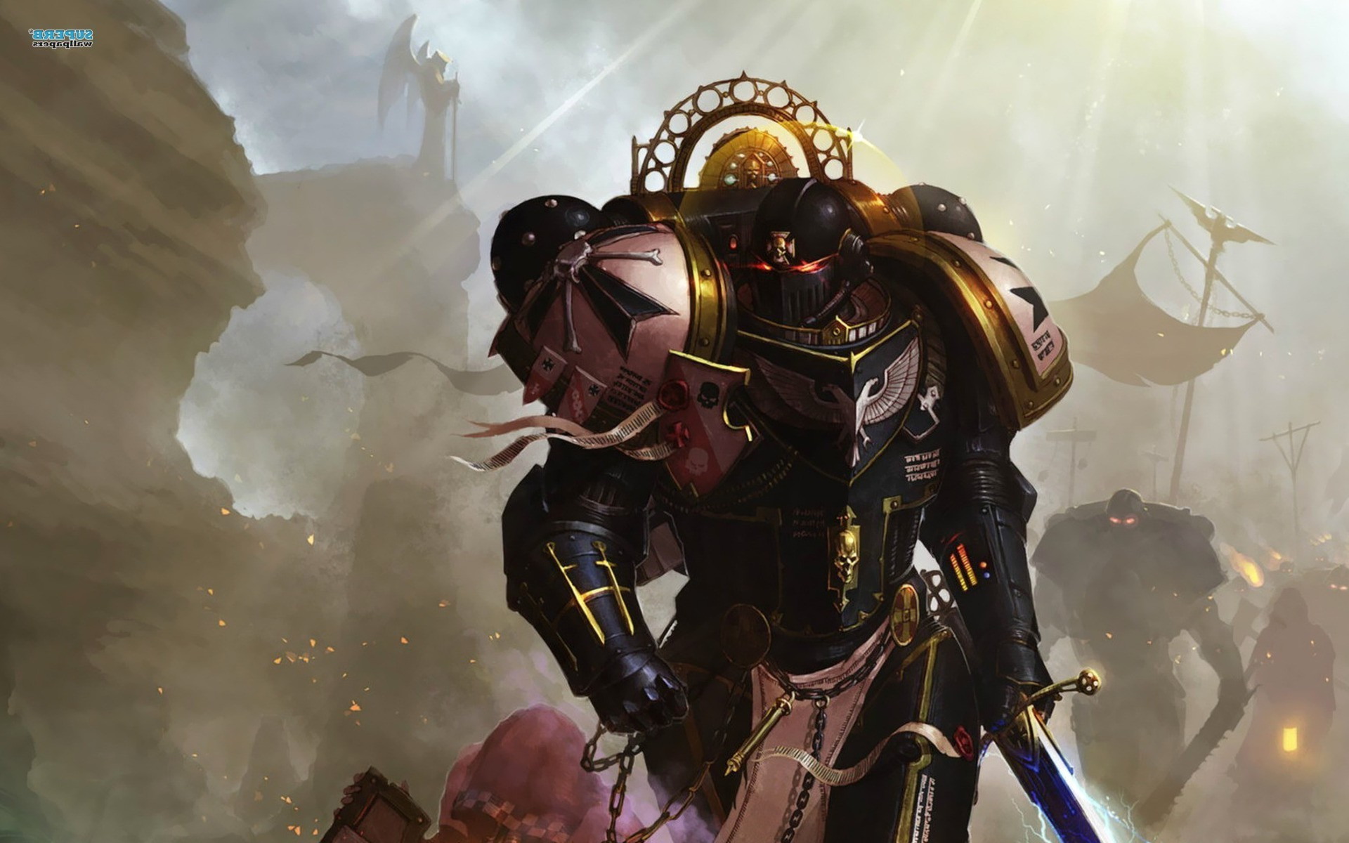 1920x1200 Warhammer 40000, Space Marines, Sword, Black Templars Wallpapers HD /  Desktop and Mobile Backgrounds