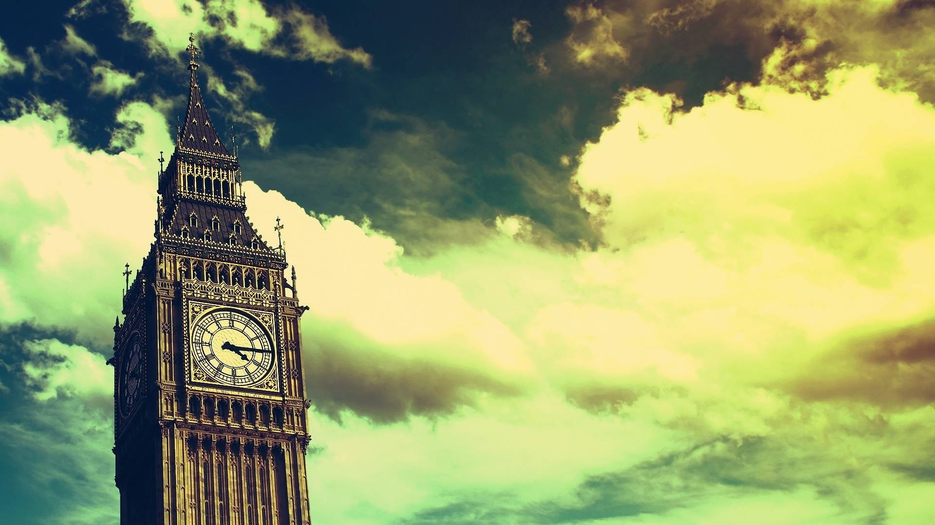 1920x1080 Preview wallpaper big ben, clock, london, sky
