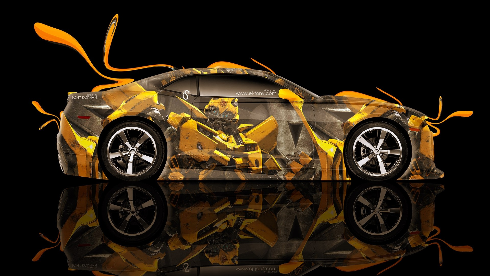 1920x1080 Transformers Bumblebee Car Wallpaper Desktop Free Download