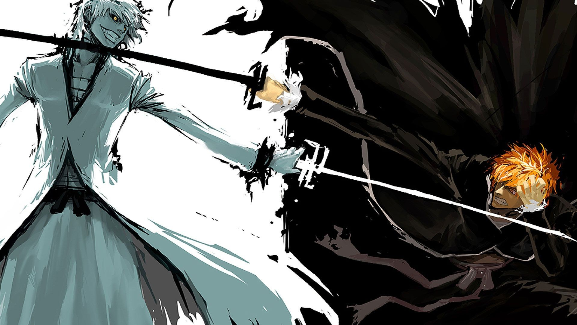 1920x1080 Kurosaki Ichigo and Hollow Ichigo - Bleach HD Wallpaper