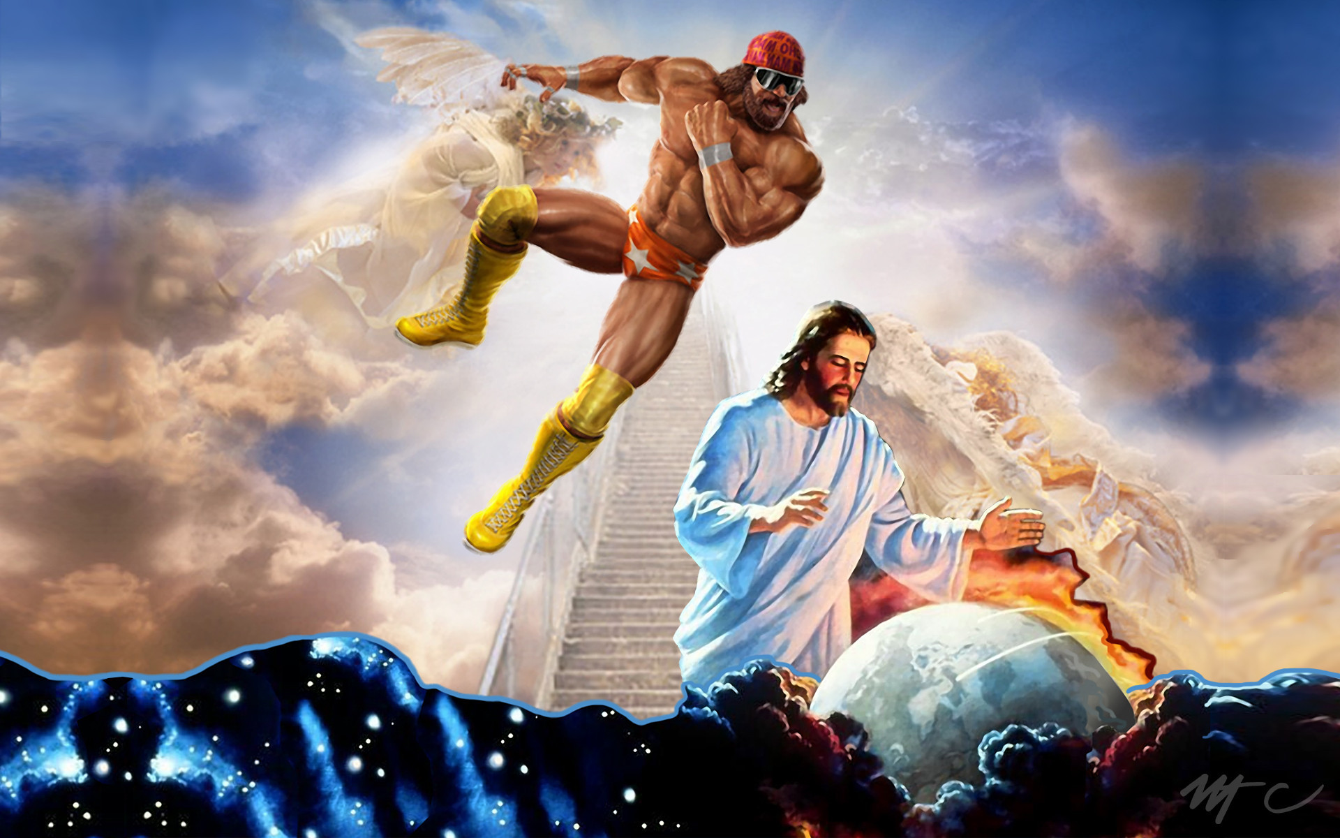 1920x1200 Macho Man Randy Savage Jesus wallpaper 253728