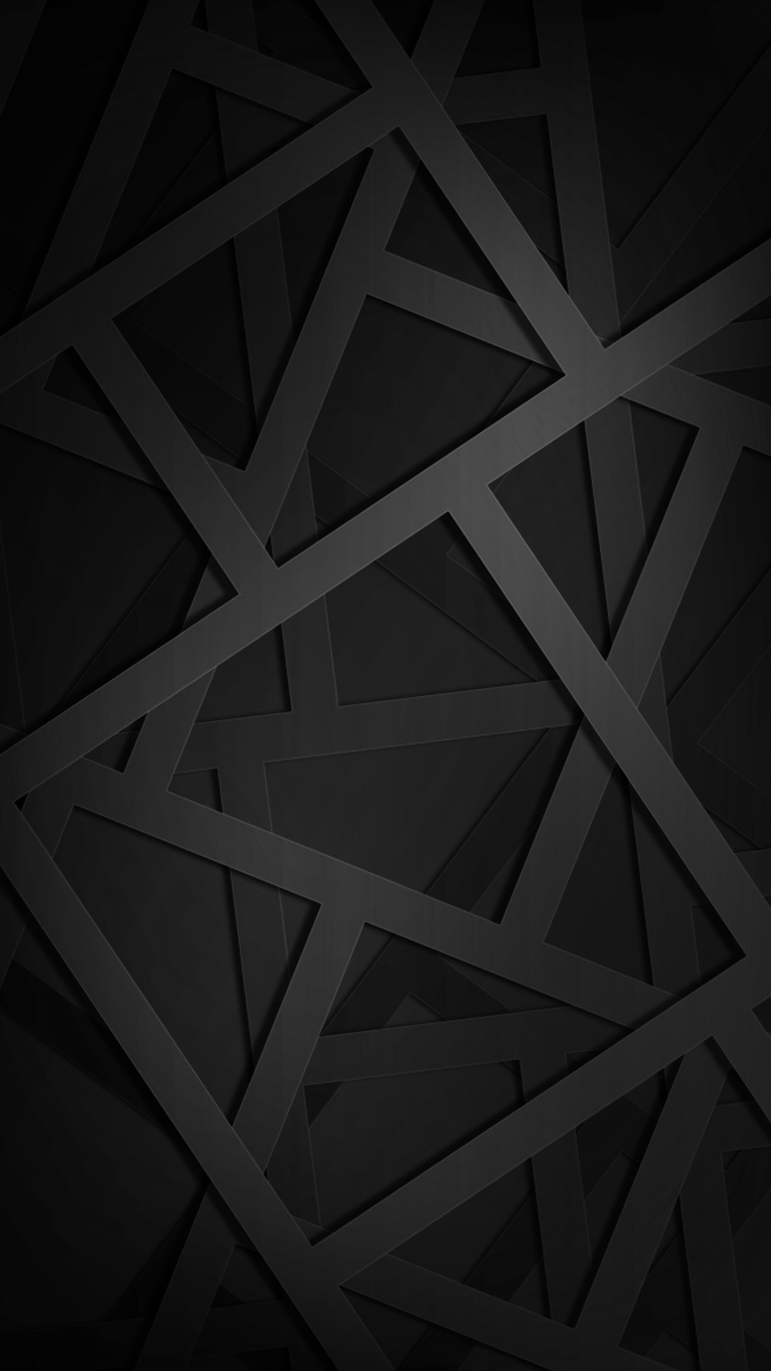 1080x1920 Geometric Black Phone Wallpaper