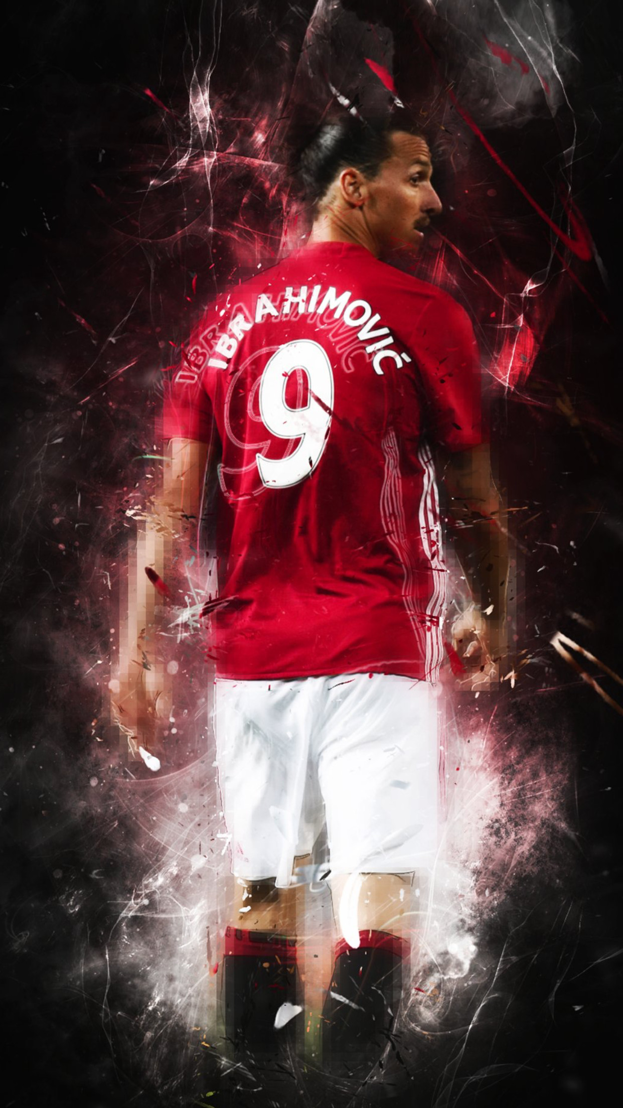 1242x2208 Ibrahimovic Manchester United PL Premier League 9 Red Devil 2016 2017  Europa League Adidas Football Soccer