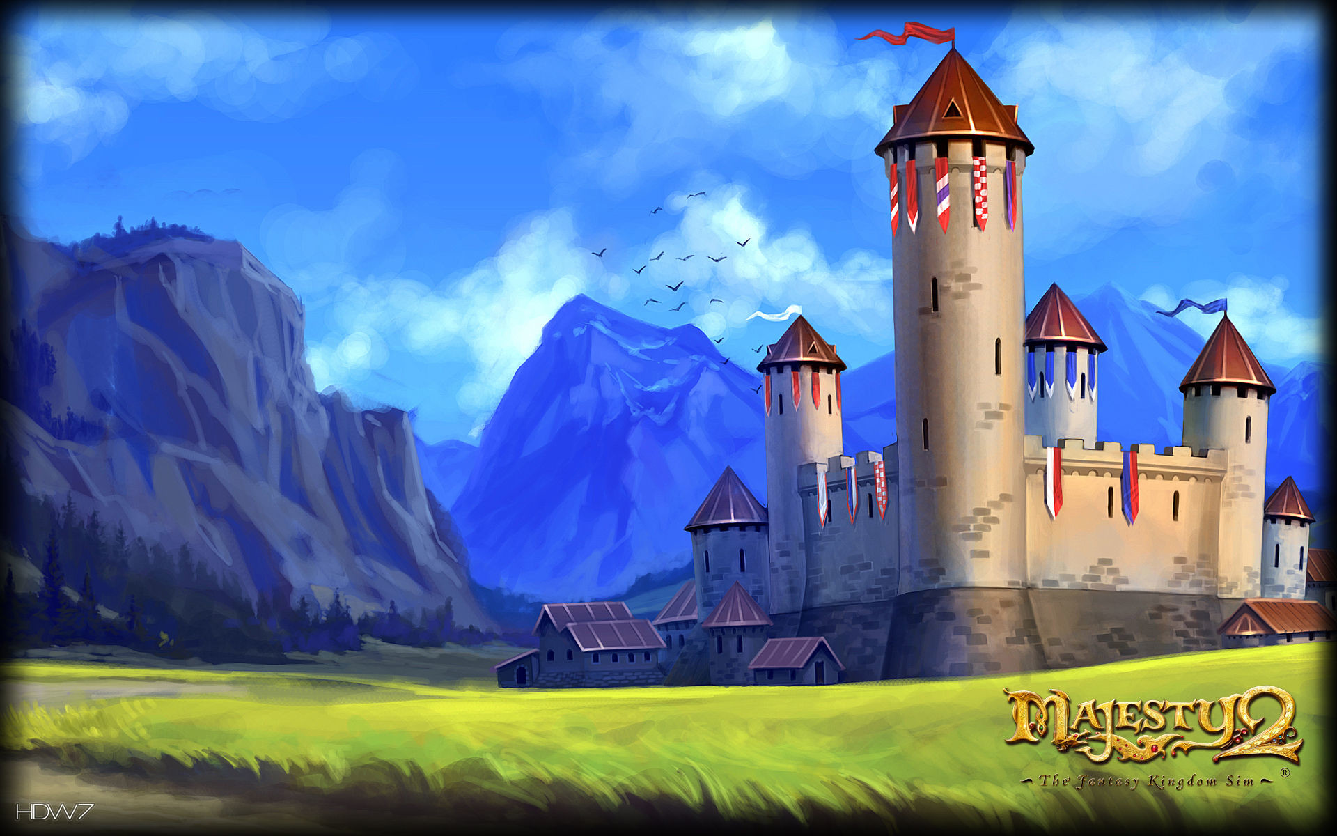 1920x1200 majesty 2 medieval castle widescreen wallpaper