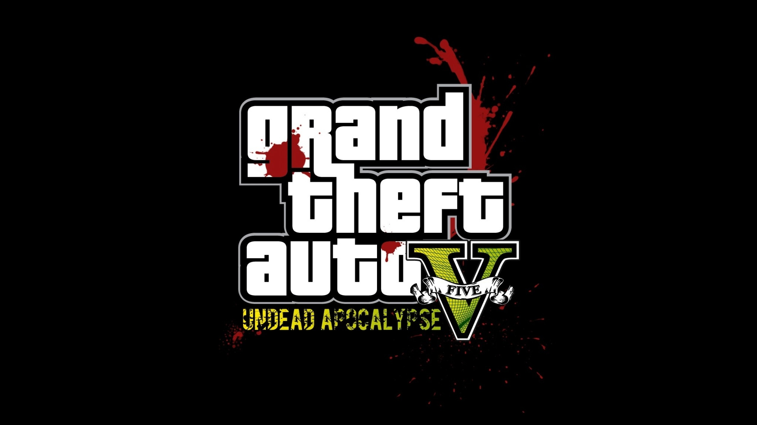 2560x1440  Wallpaper gta, grand theft auto 5, undead apocalypse, blood,  graphics,