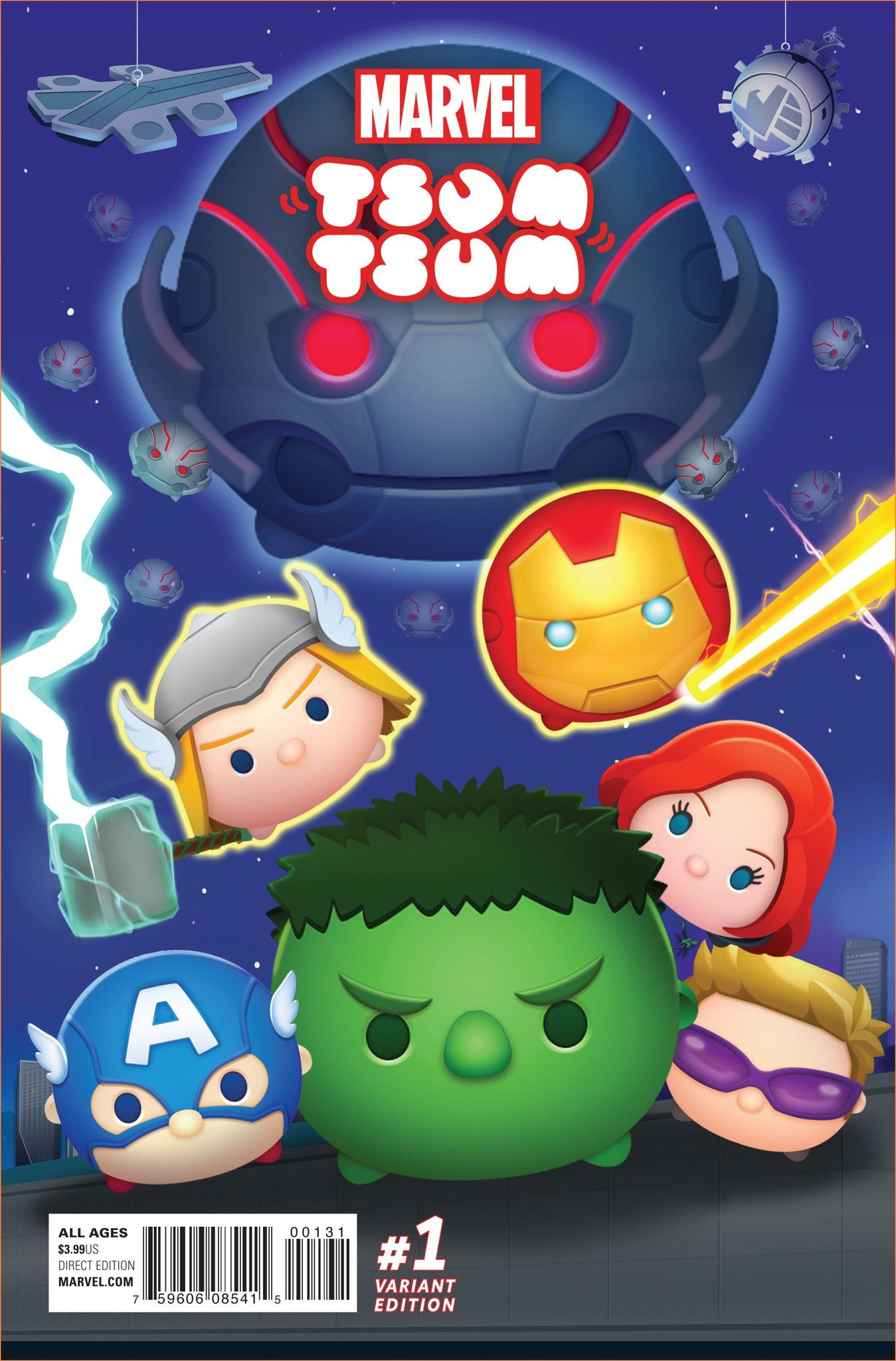 1349x2048 Marvel Tsum Tsum (2016) Issue #1 Classified Connecting Variant