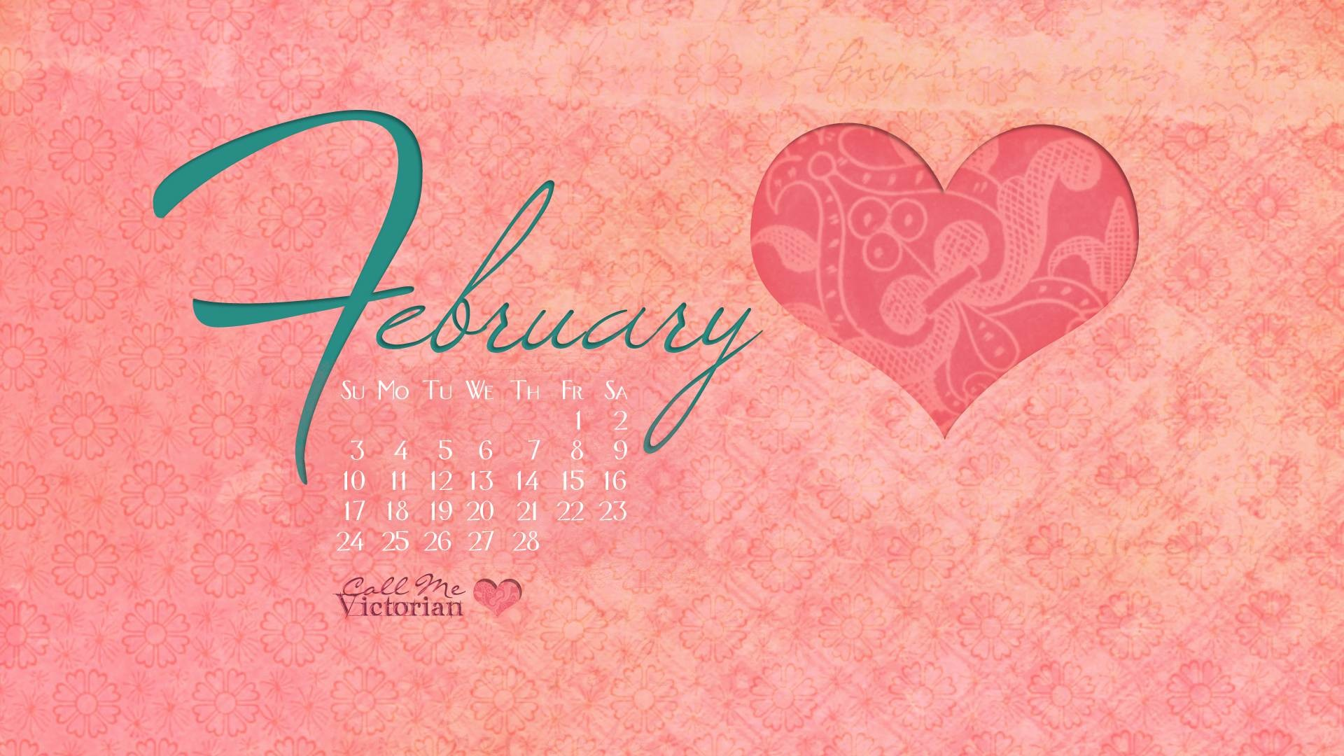 February Calendar Wallpaper Hd : February wallpaper calendar images