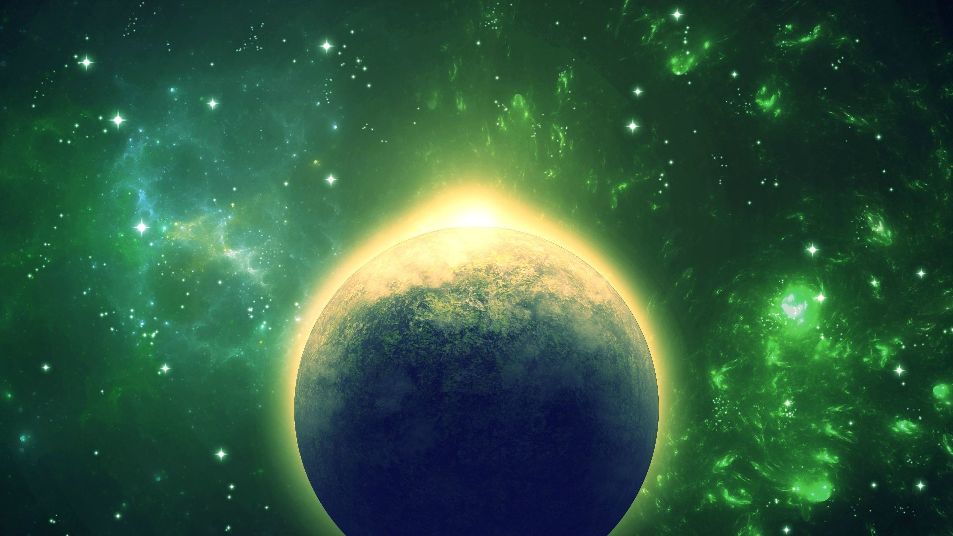 Colorful space wallpapers 73 images - Space wallpaper green ...
