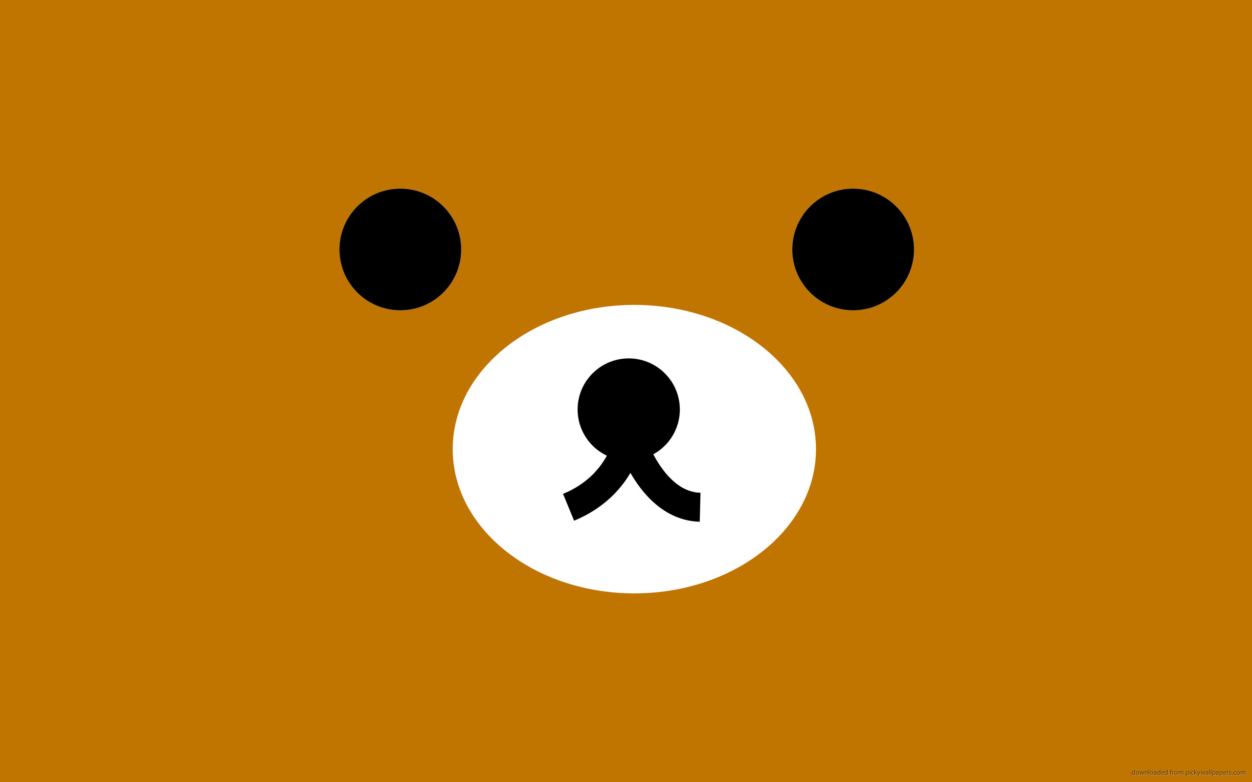 2560x1600 Rilakkuma Brown Face for