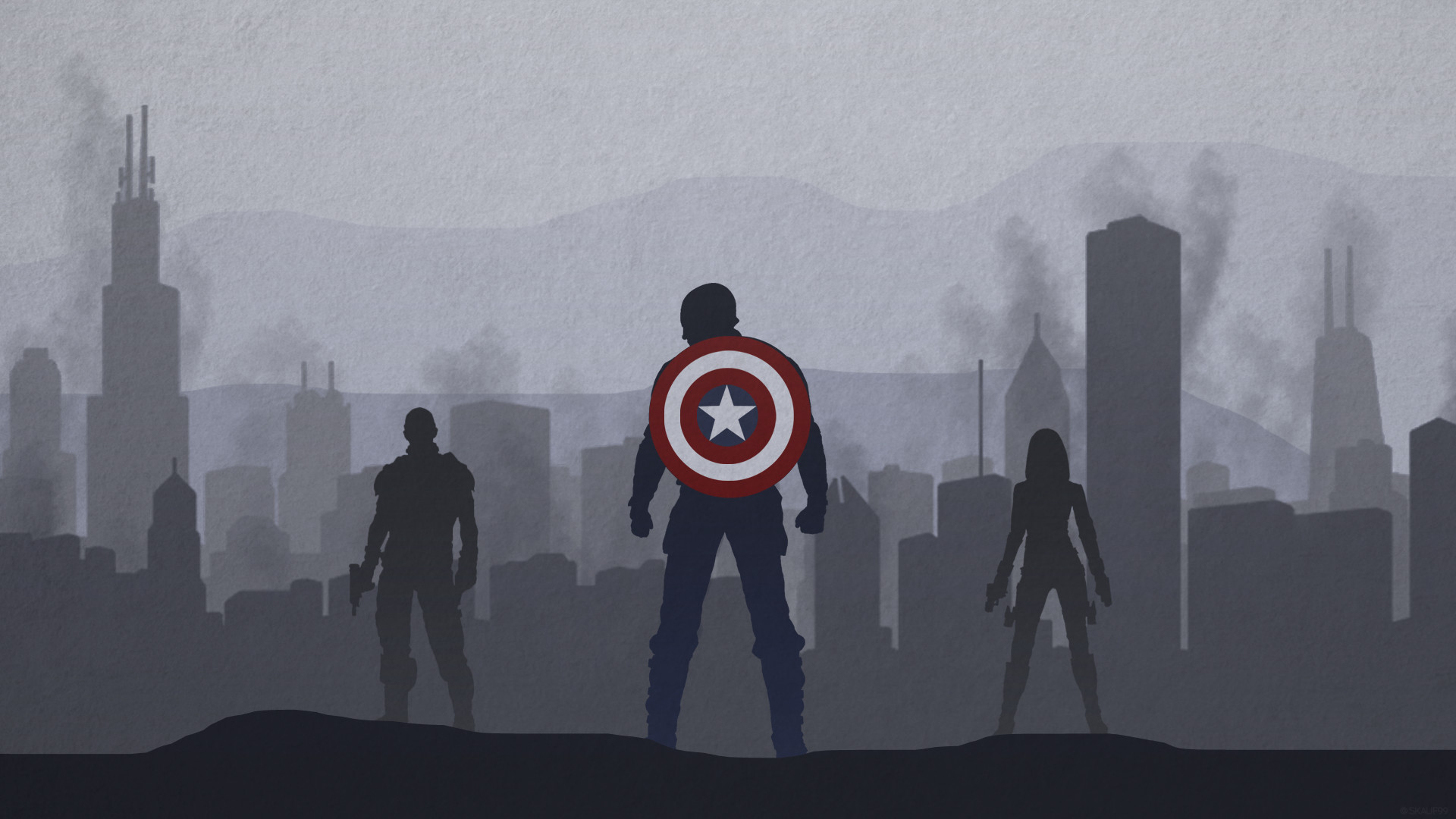 1920x1080 ... CAPTAIN AMERICA WINTER SOLDIER - DESKTOP WALLPAPER by skauf99