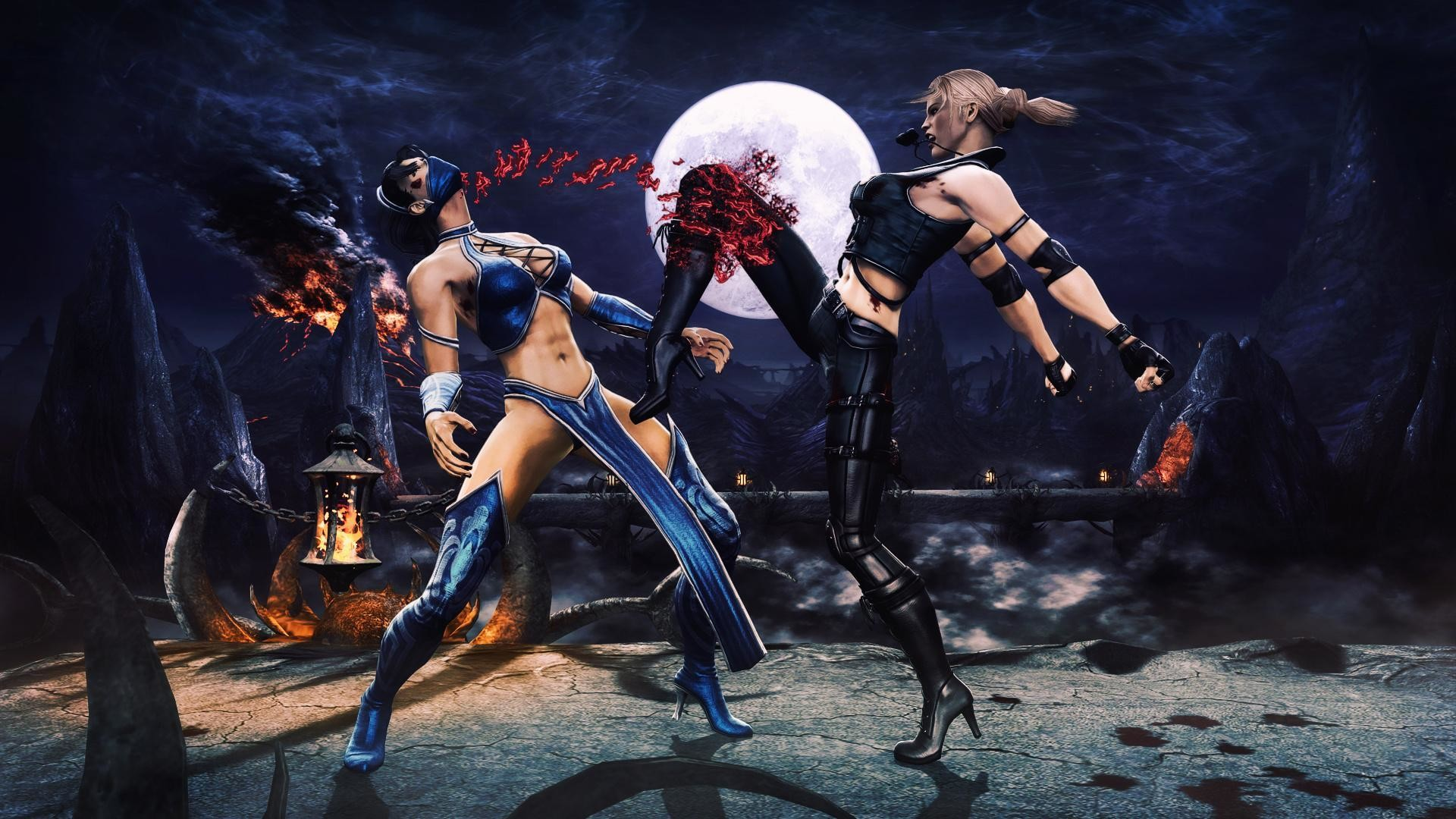 X Blades Hot Mortal Kombat K...