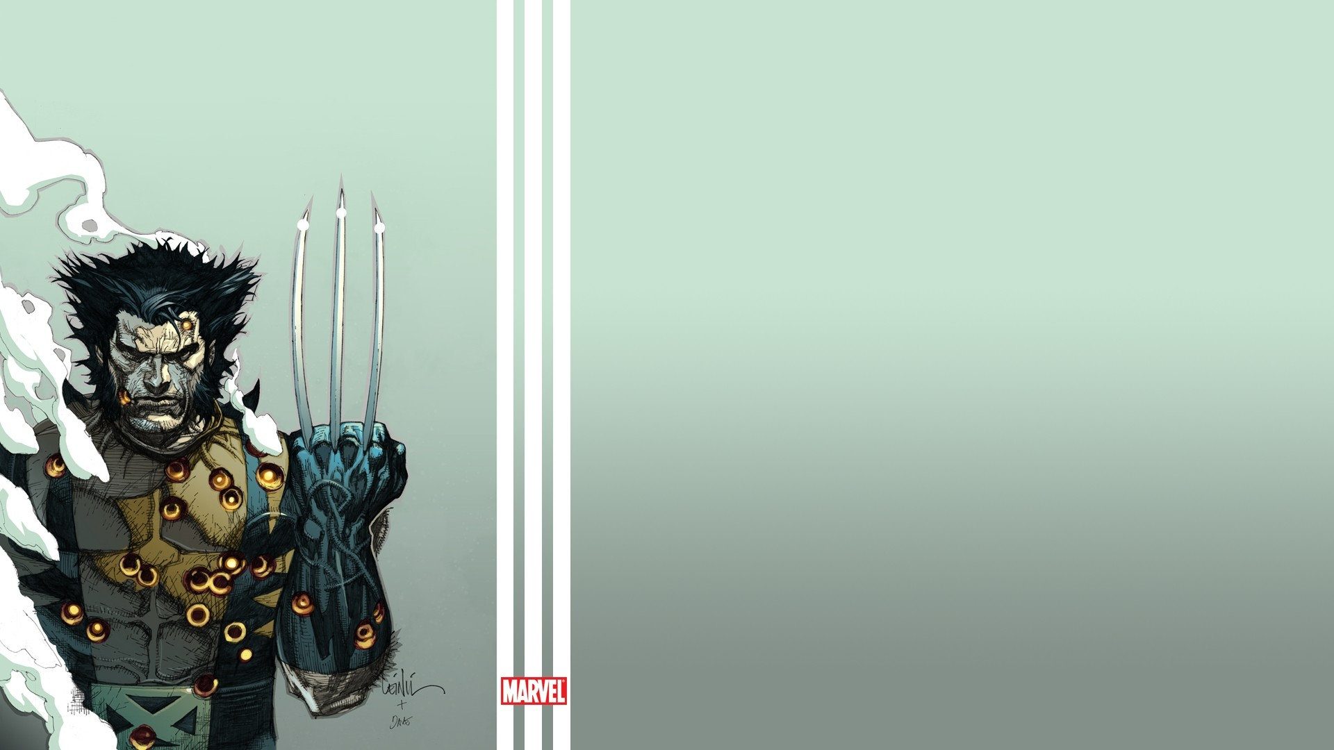 1920x1080 Preview wallpaper wolverine, the incredible hulk, marvel comics, art