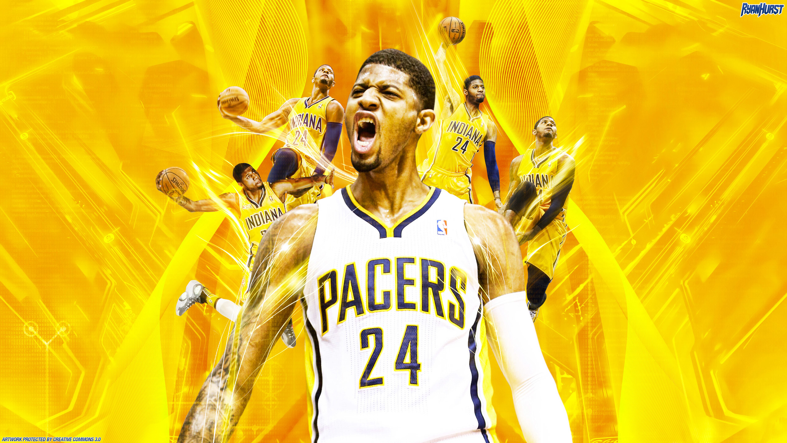2560x1440 Paul George Indiana Pacers 2560×1440 Wallpaper