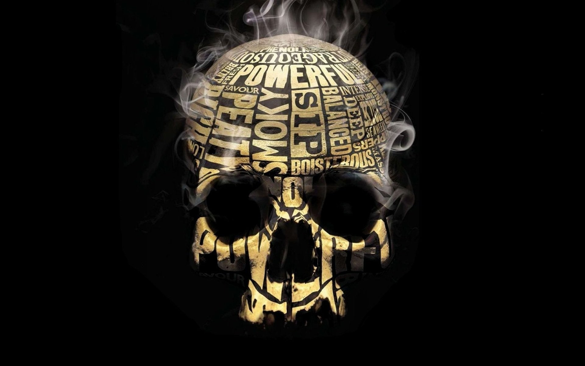 1920x1200 background smoker skull of the orbit the text words smoke cigarettes  tobacco nicotine strong stability deep
