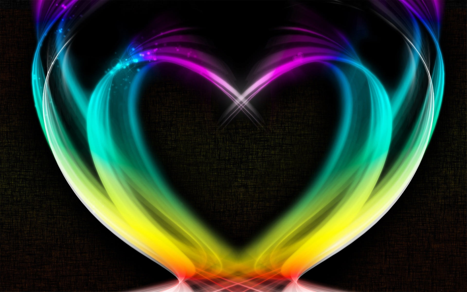 1920x1200 heart shape rainbow colored wallpaper