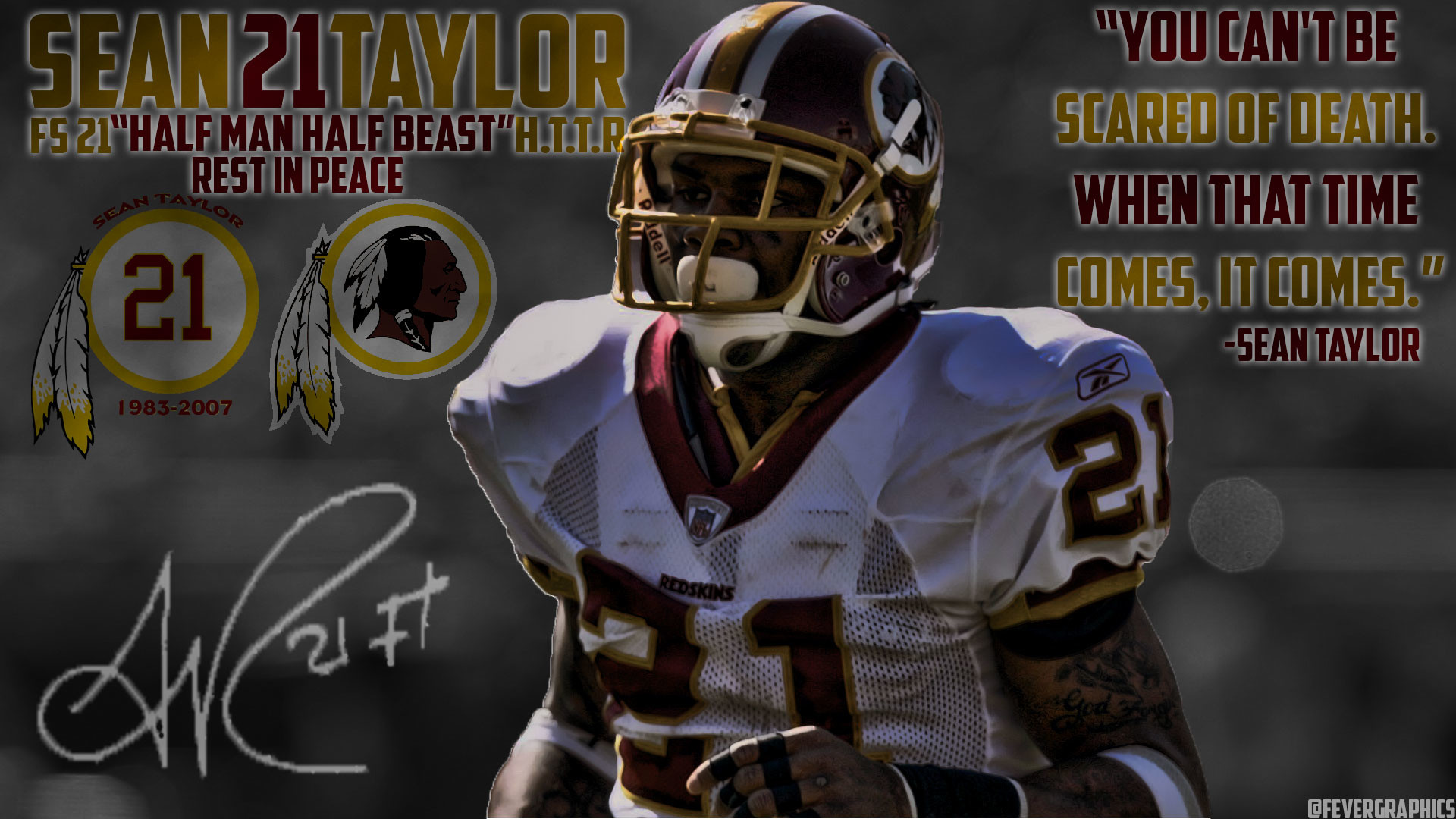 1920x1080 Redskins sub! I made you guys a Sean Taylor wallpaper (RIP) I hope you guys  like my work! I do take suggestions!