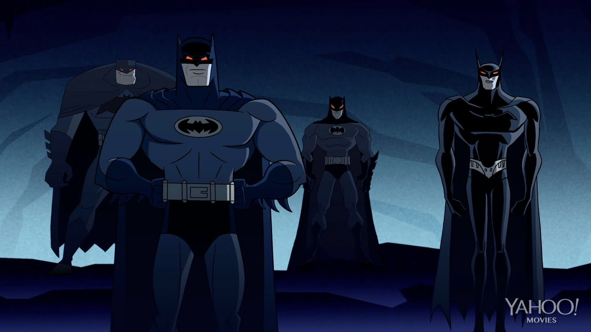 1920x1080 Left to right: Frank Miller's The Dark Knight Returns, Batman: The Brave &  The Bold, The Batman, Beware the Batman image