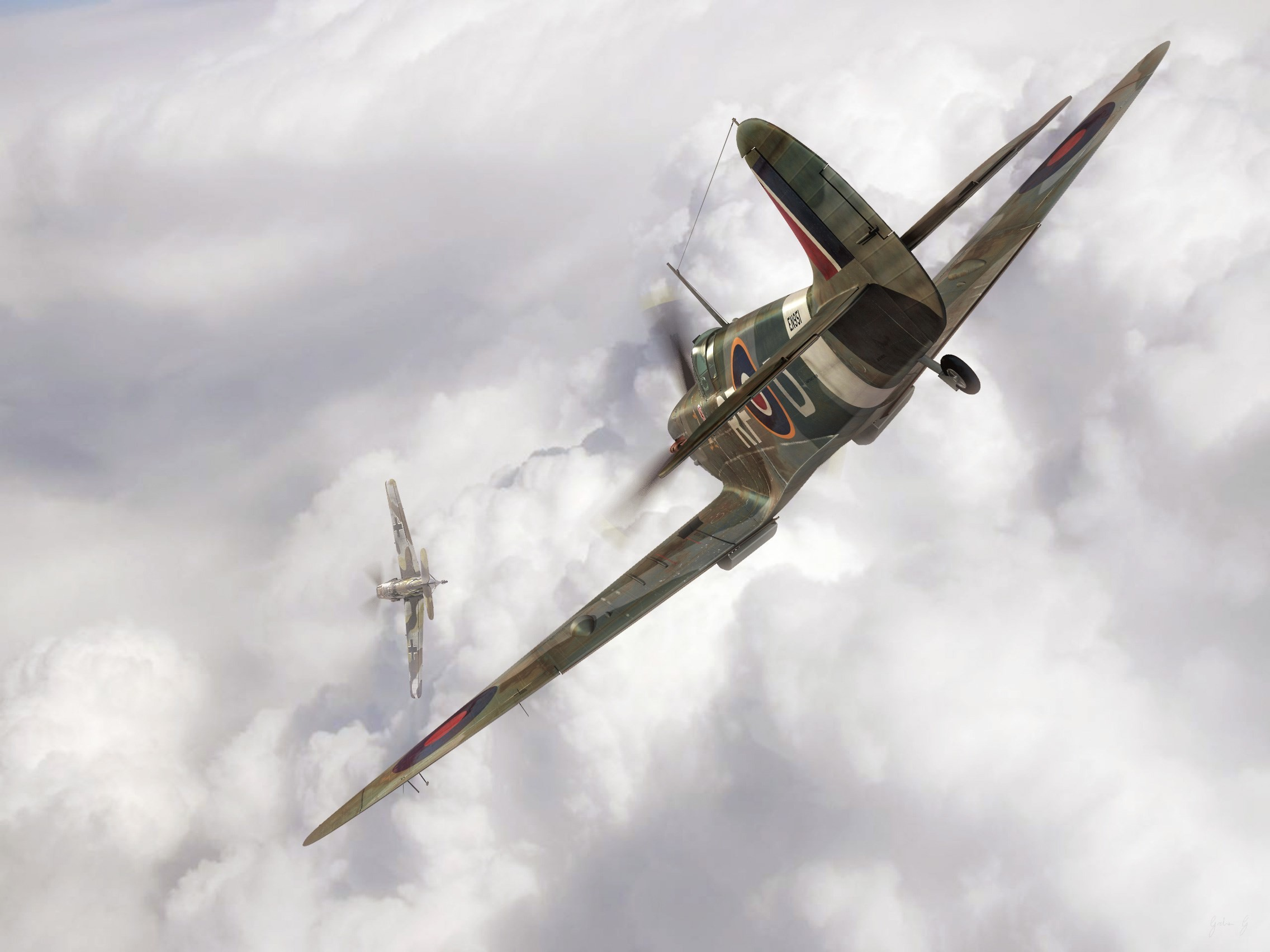 2272x1704 Widescreen Wallpapers: supermarine spitfire picture,  (285 kB)