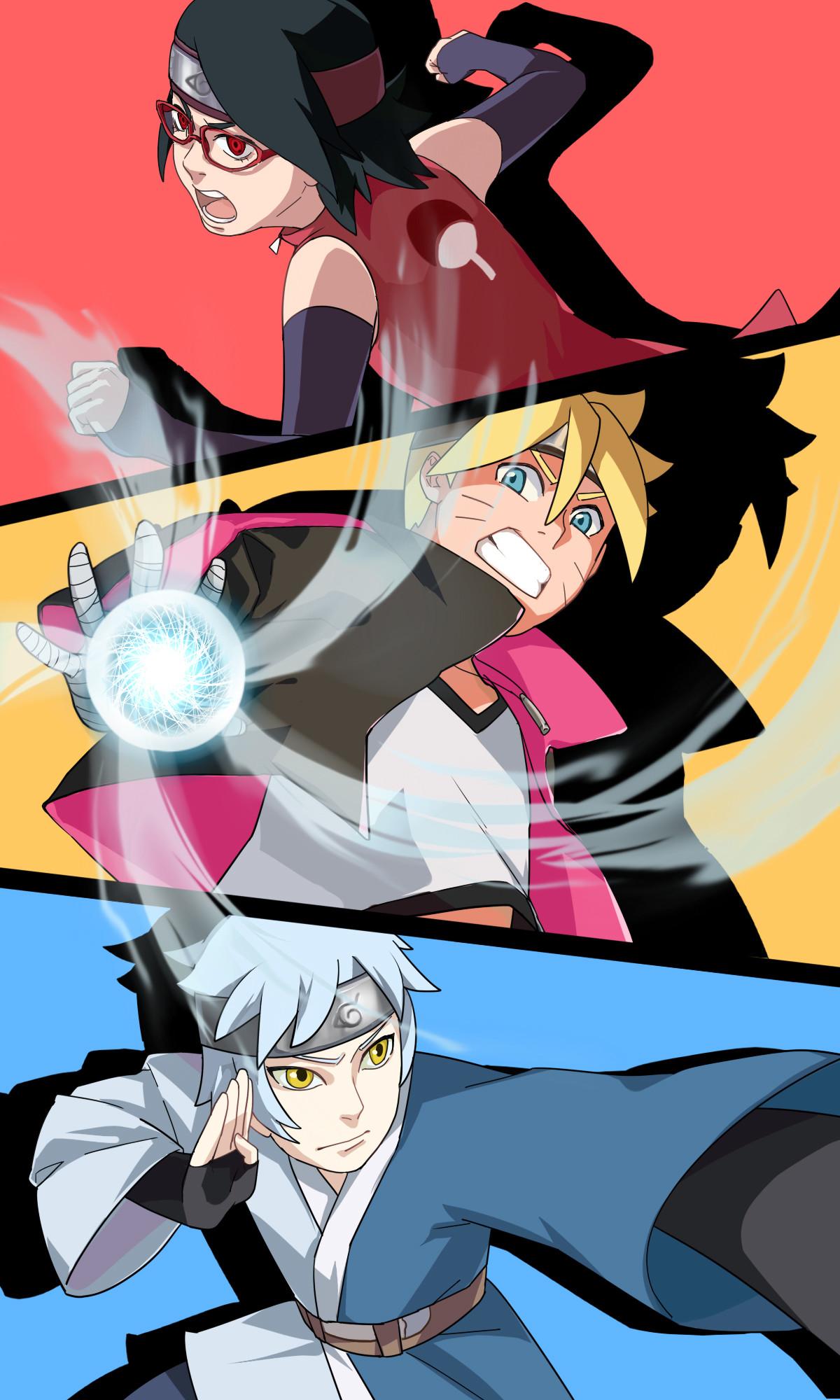 Naruto Hinata Boruto Himawari Wallpaper