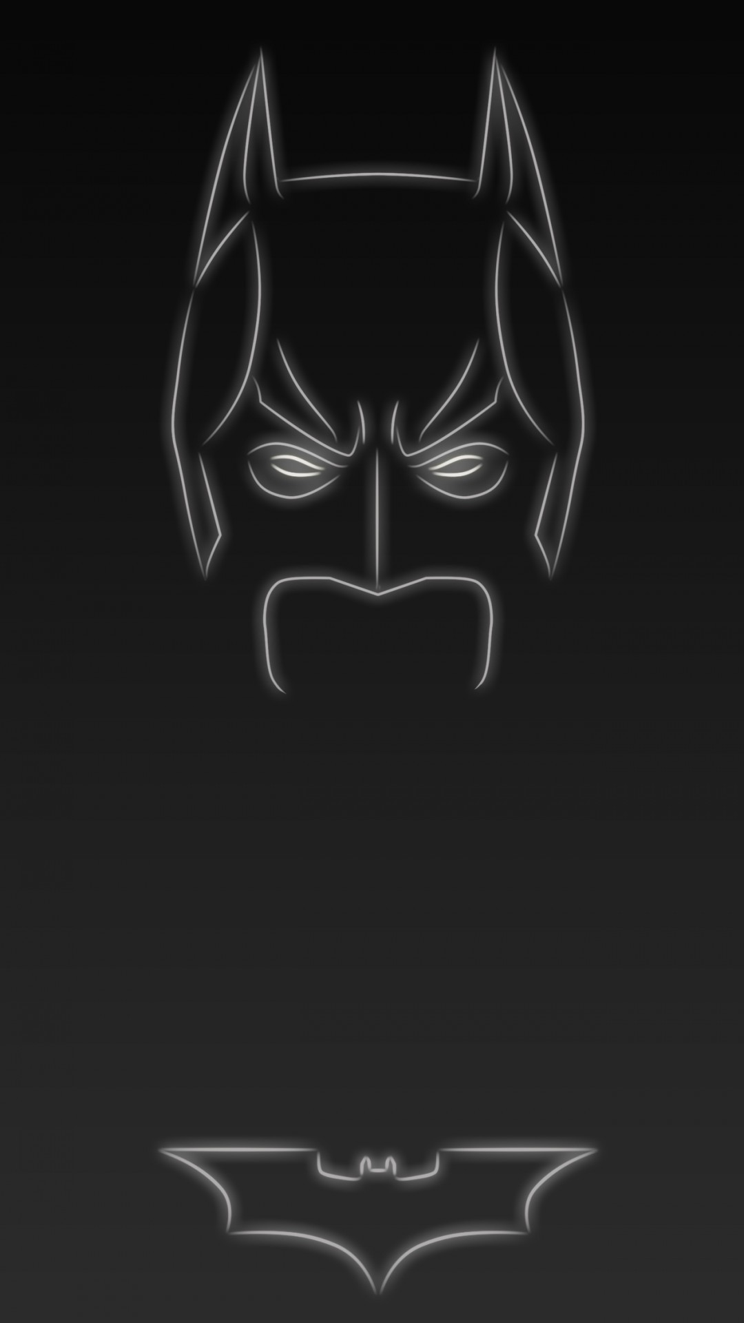 1080x1920 Dark knight the Batman. Tap to see more Superheroes Glow With Neon Light  Apple iPhone