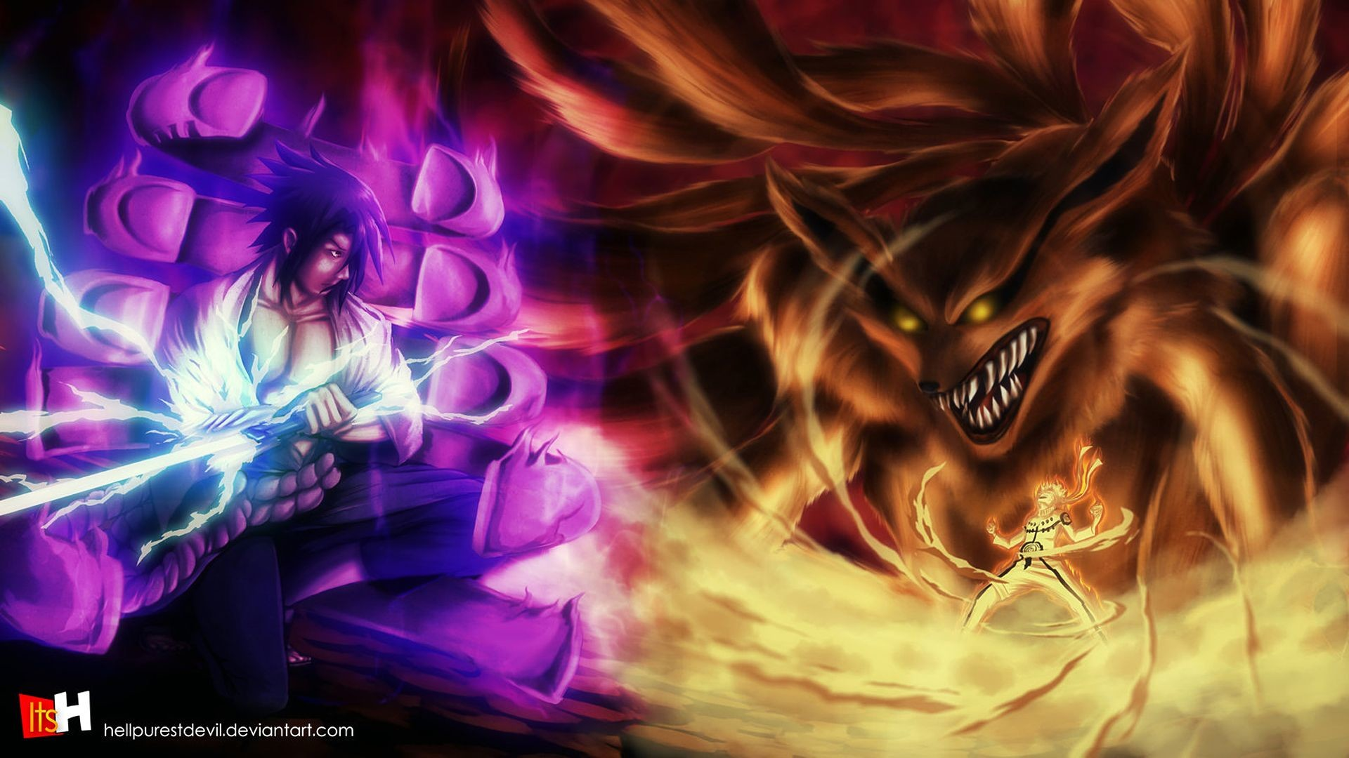 Naruto Vs Sasuke Wallpaper 57 Images