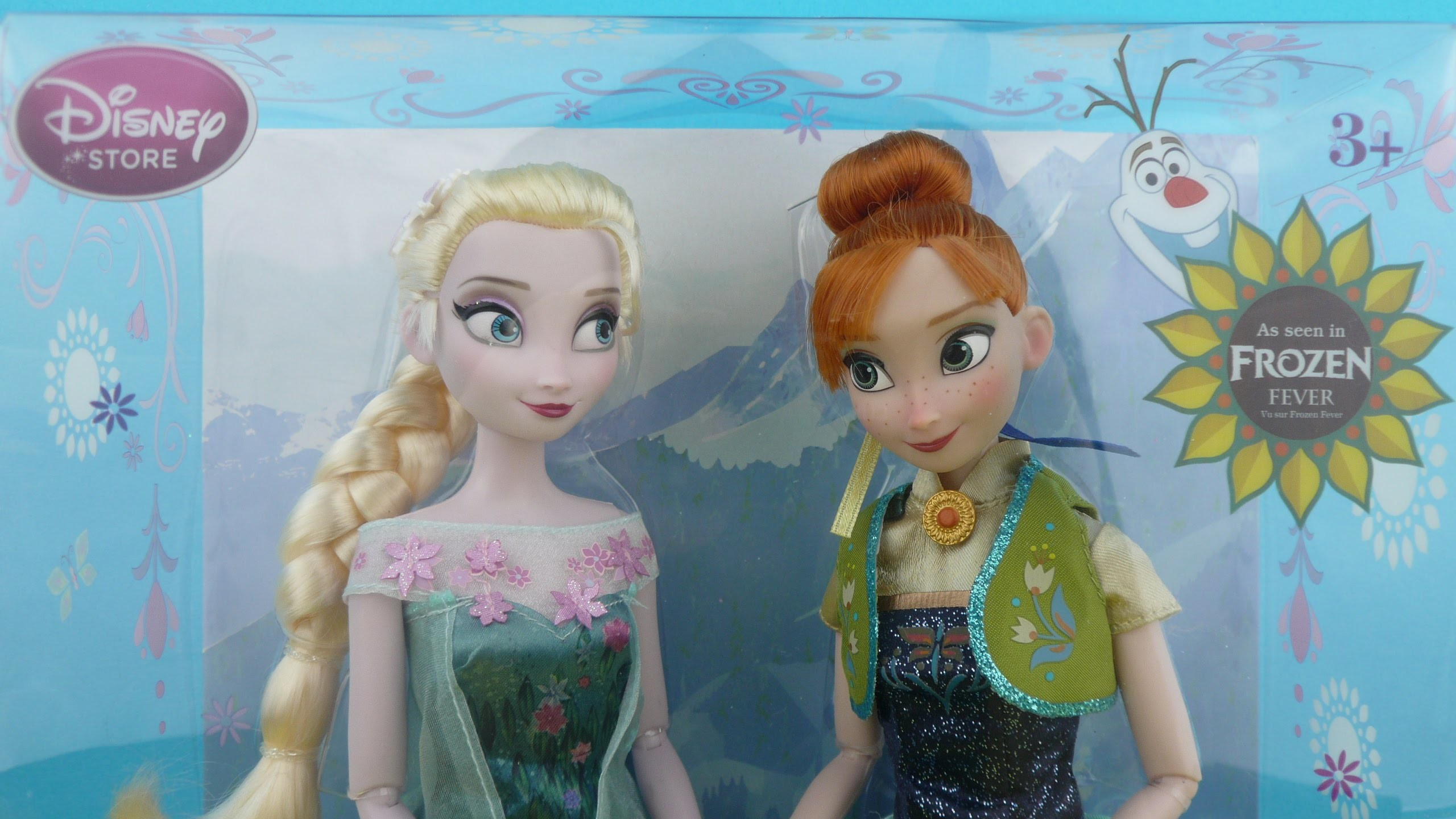 2560x1440 NEW Disney FROZEN FEVER Elsa Anna Summer Solstice Dolls Set Official Disney  Store Toy Review - YouTube
